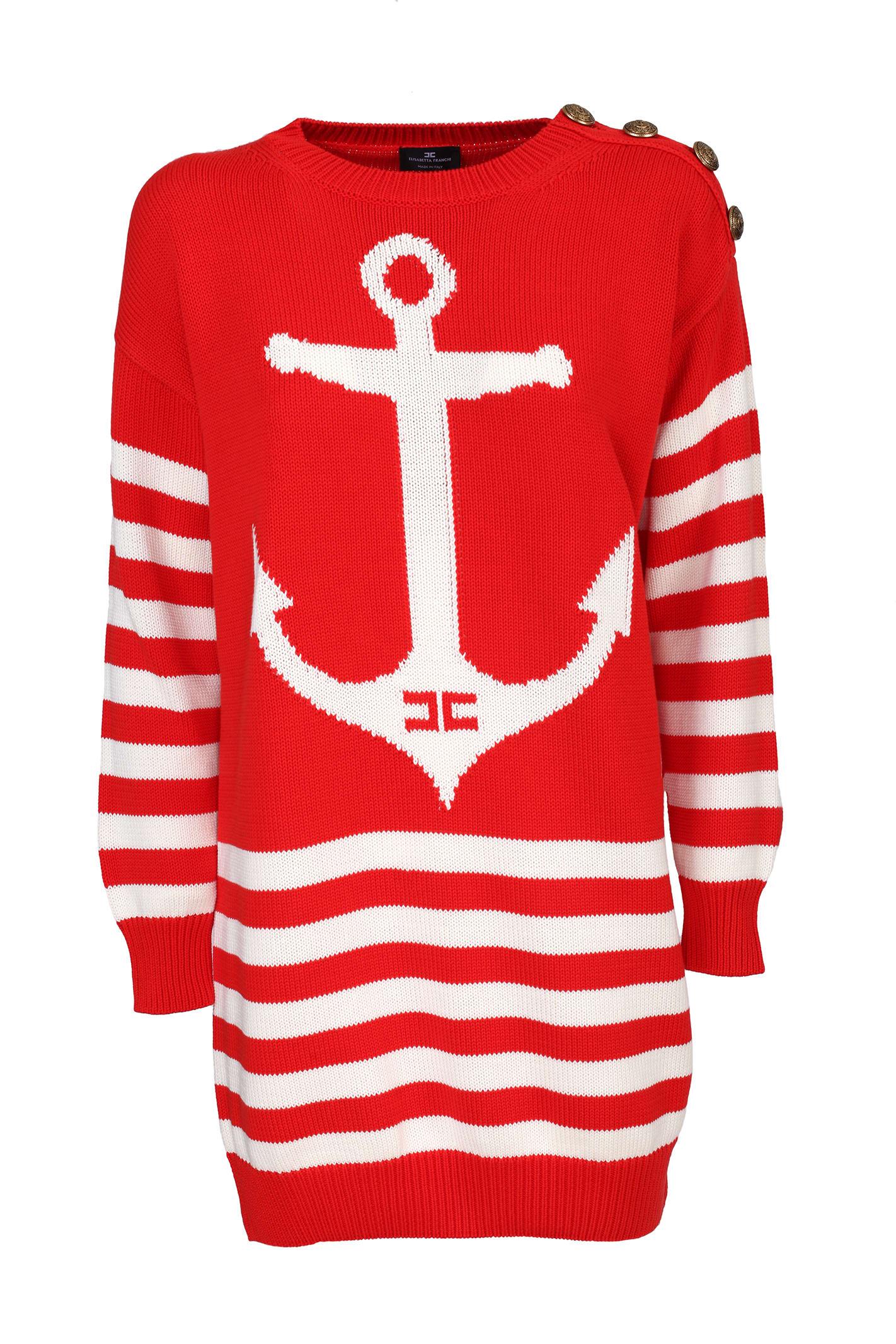 Buy Elisabetta Franchi Celyn B. Elisabetta Franchi Knitted Dress online, shop Elisabetta Franchi Celyn B. with free shipping