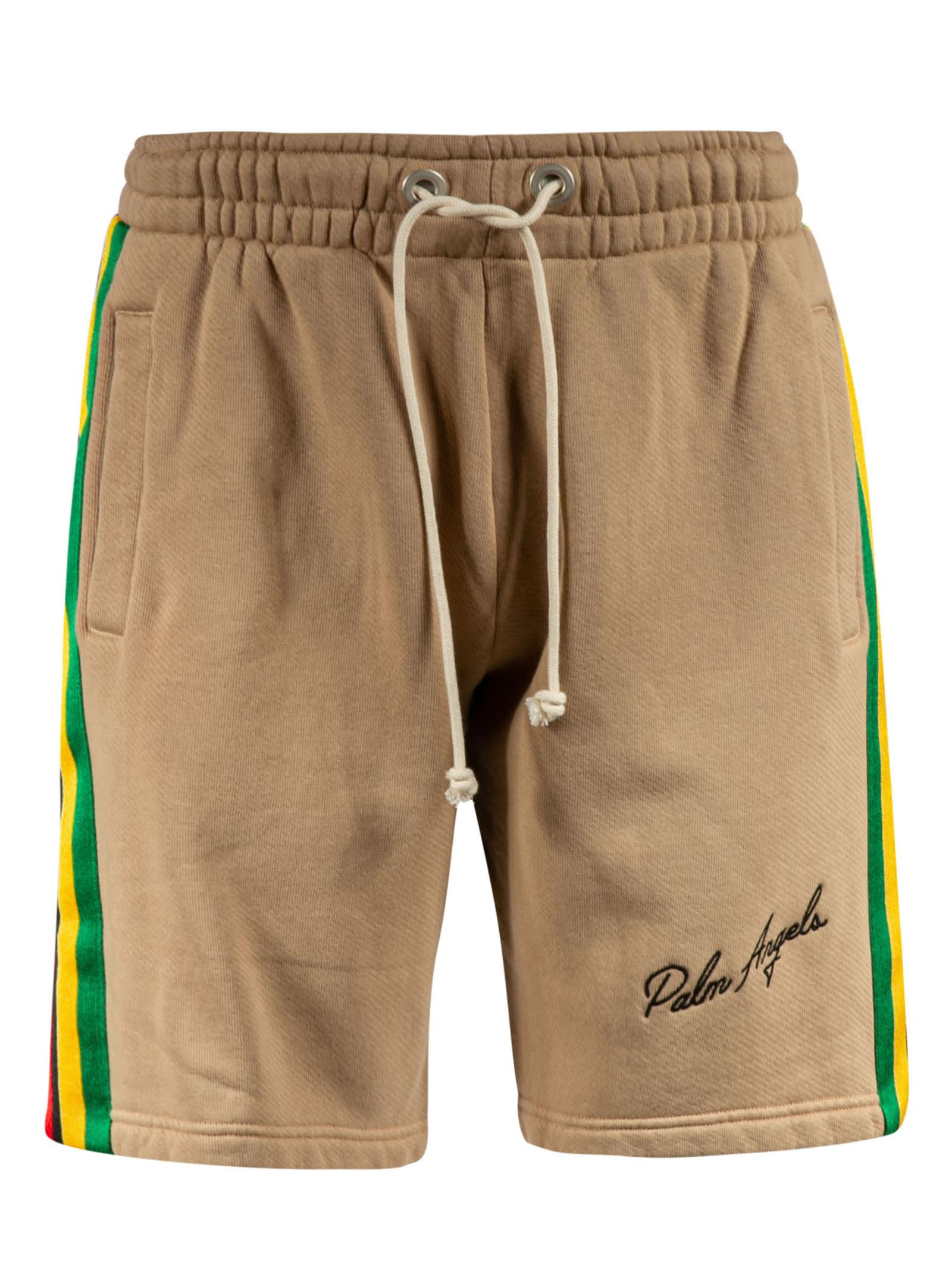 Palm Angels Shorts EXODUS SIDE TAPE SWEAT SHORTS