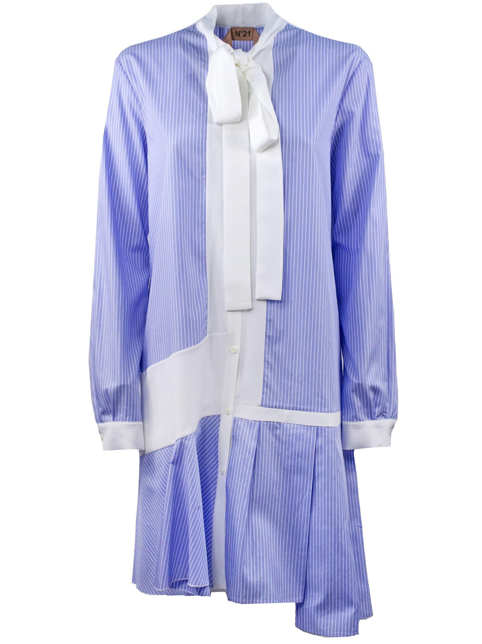 N.21 Blue Button-down Mini Dress