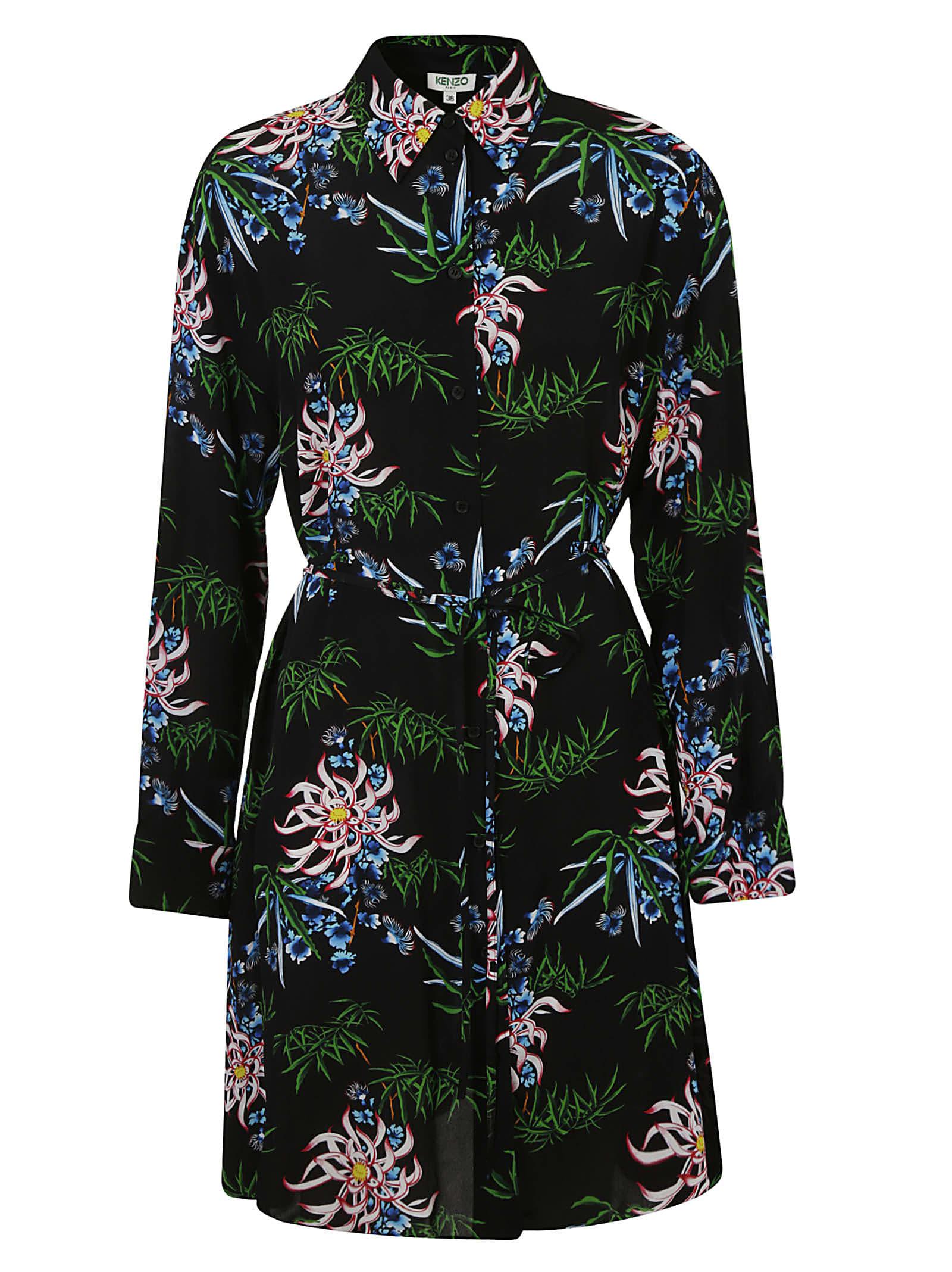 Buy Kenzo Feminie Shirting Dress online, shop Kenzo with free shipping