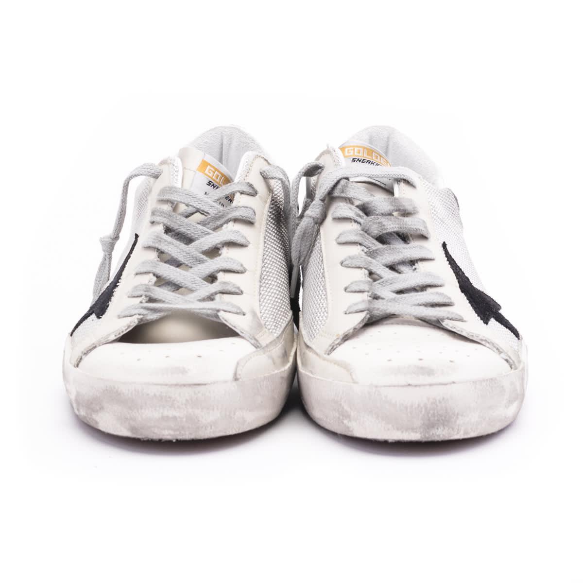 Golden Goose Super Star Sneaker In Silver-milk-black-white