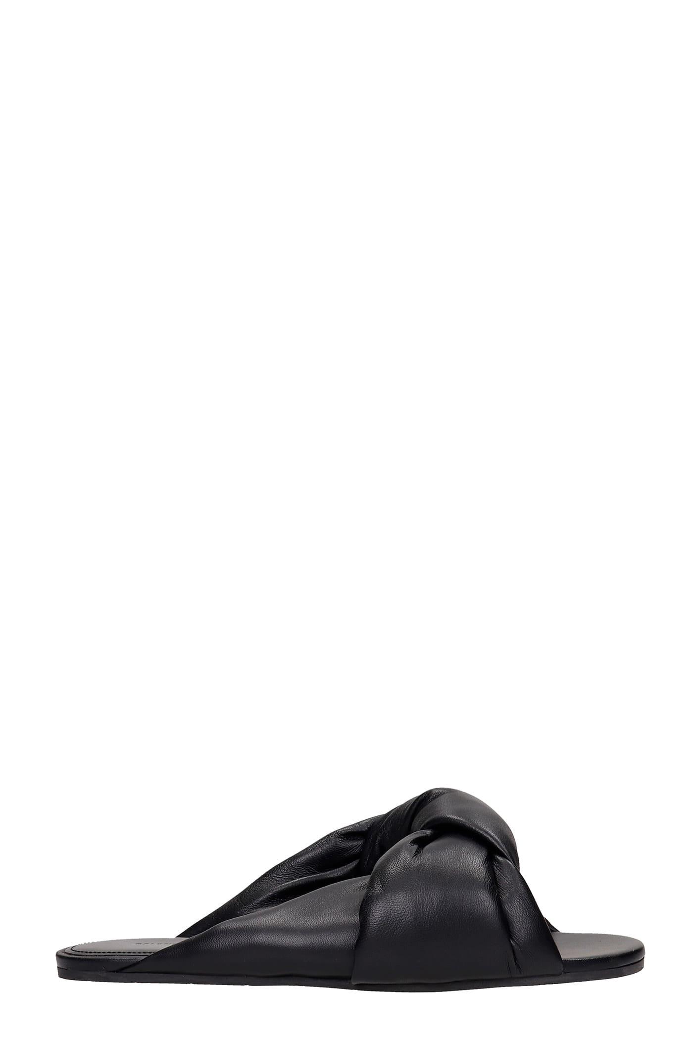 Balenciaga Flats In Black Leather