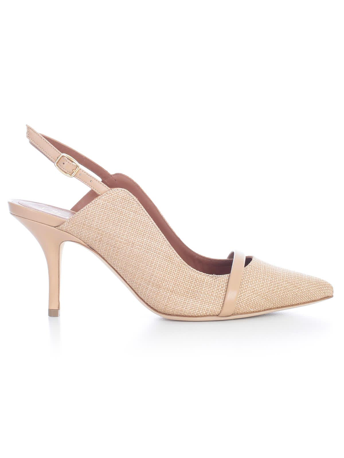 Malone Souliers Marion Pumps Raffia And Nappa