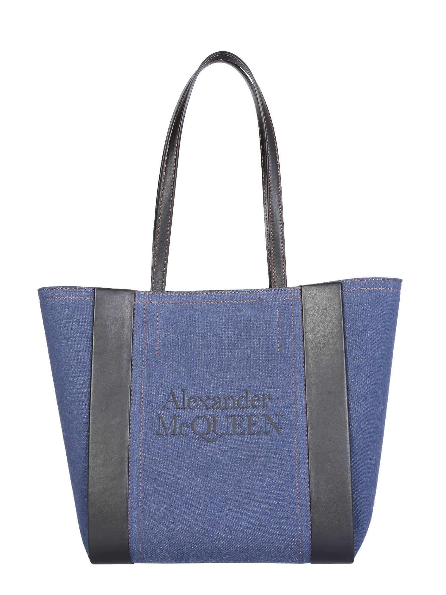 Alexander Mcqueen Totes SMALL SIGNATURE SHOPPING BAG