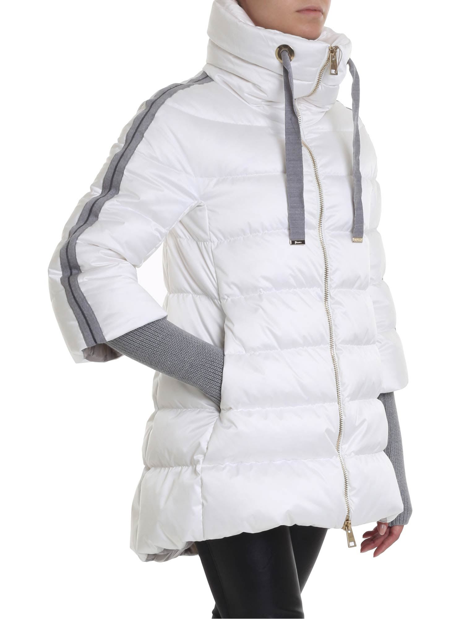 Herno Sidebands And Wool Sleeves Down Jacket