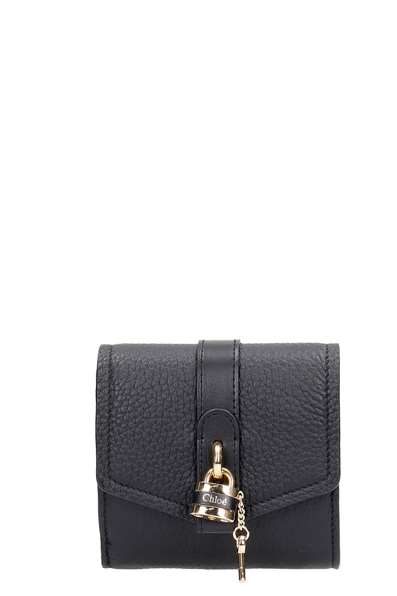 CHLOÉ ABY WALLET IN BLACK LEATHER