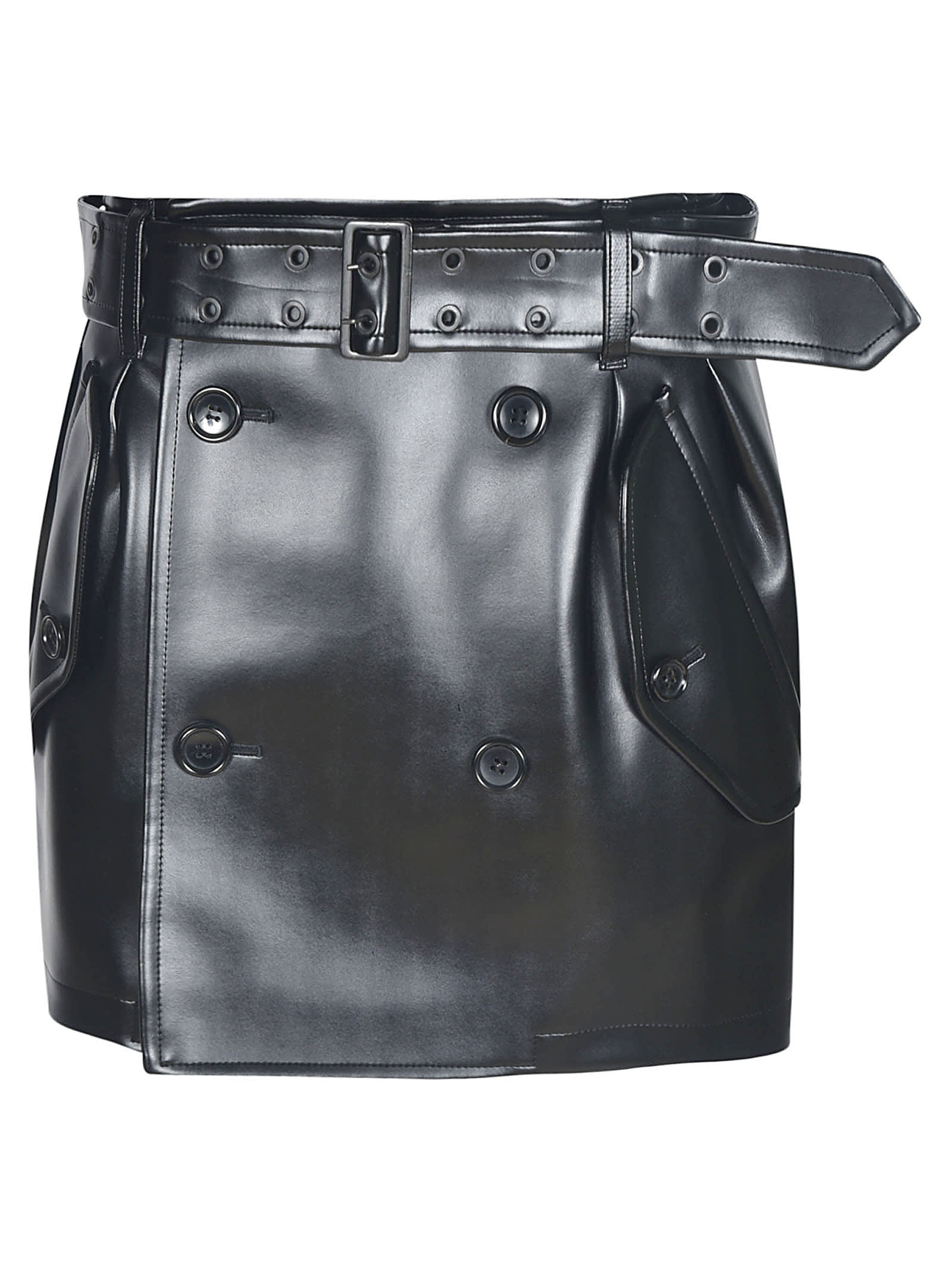 Junya Watanabe Double-breasted Belted Short Skirt