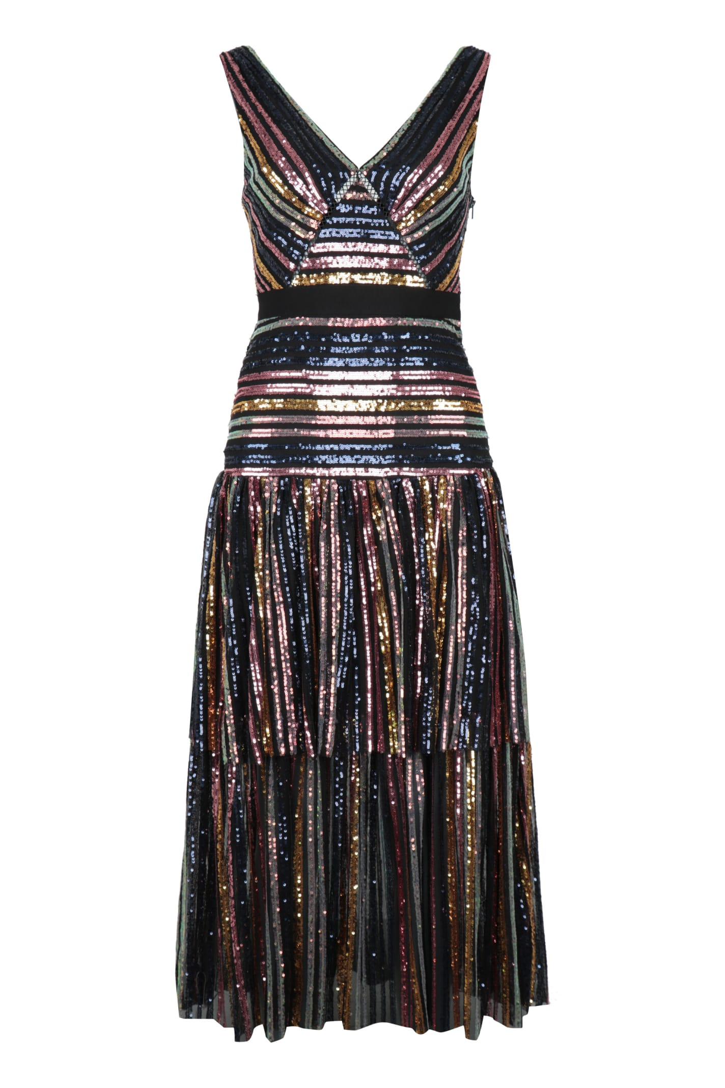 Buy self-portrait Multicolor Sequin Midi Dress online, shop self-portrait with free shipping