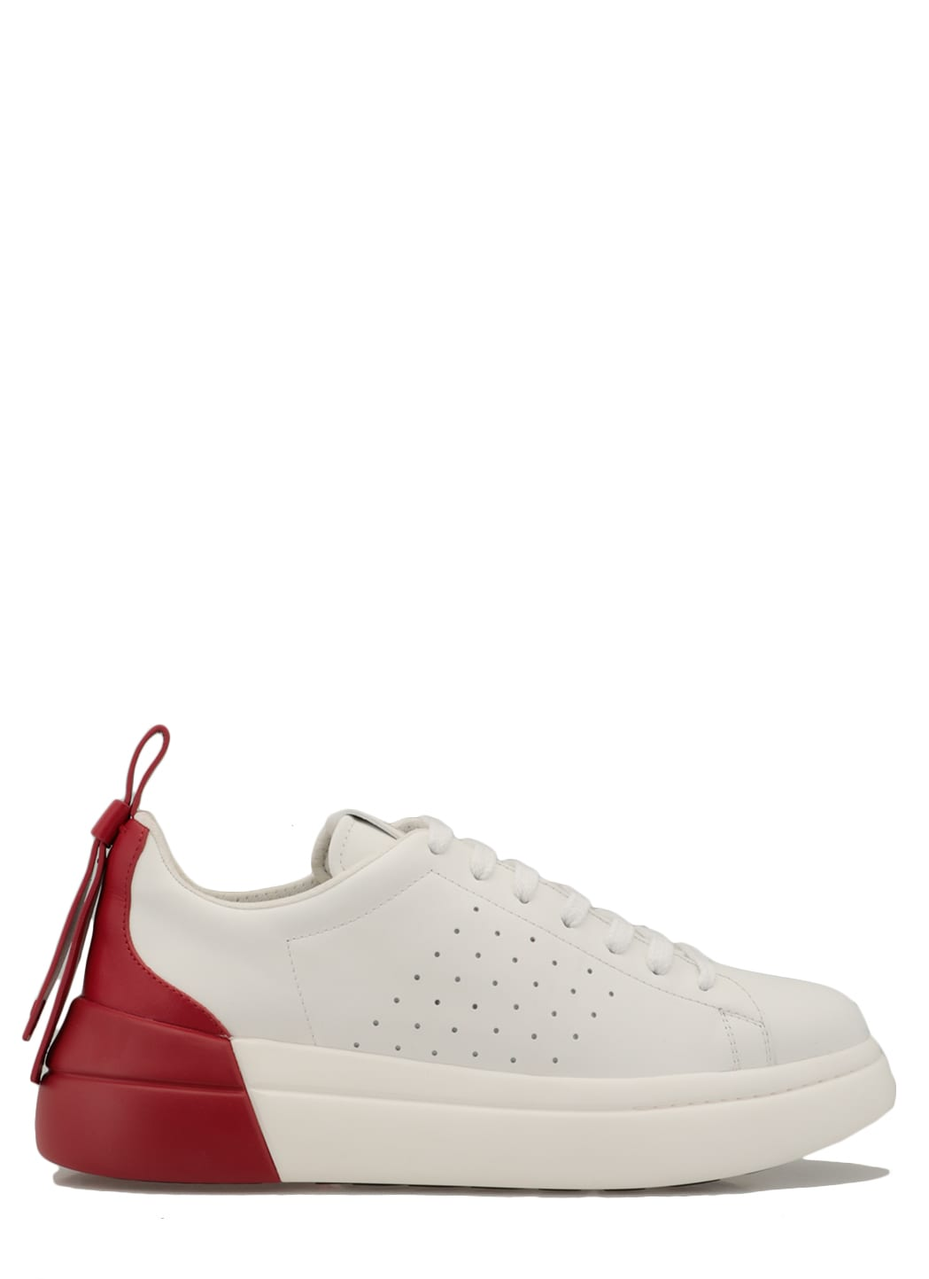 Buy RED Valentino Leather Sneaker online, shop RED Valentino shoes with free shipping