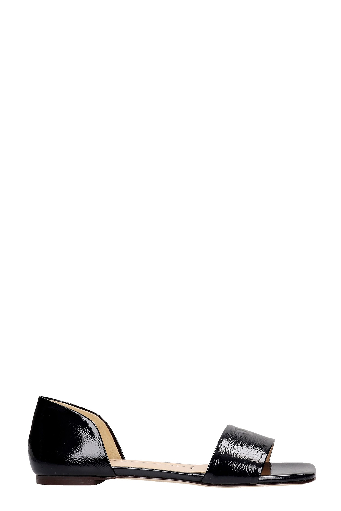 Flats In Black Patent Leather