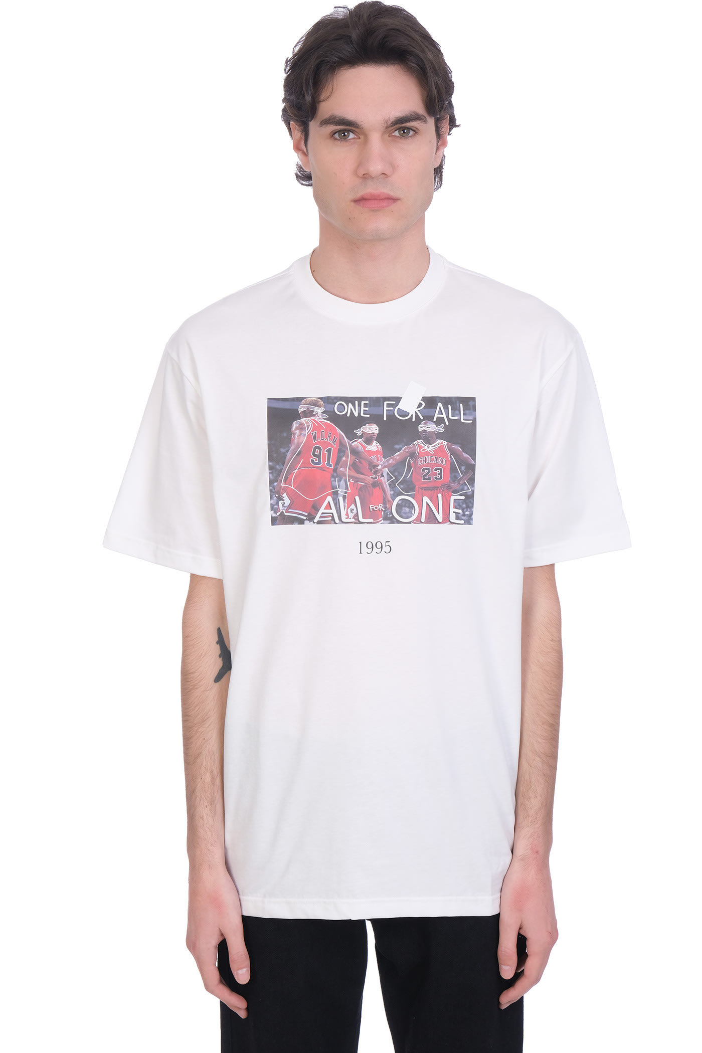Throwback Cottons T-SHIRT IN WHITE COTTON
