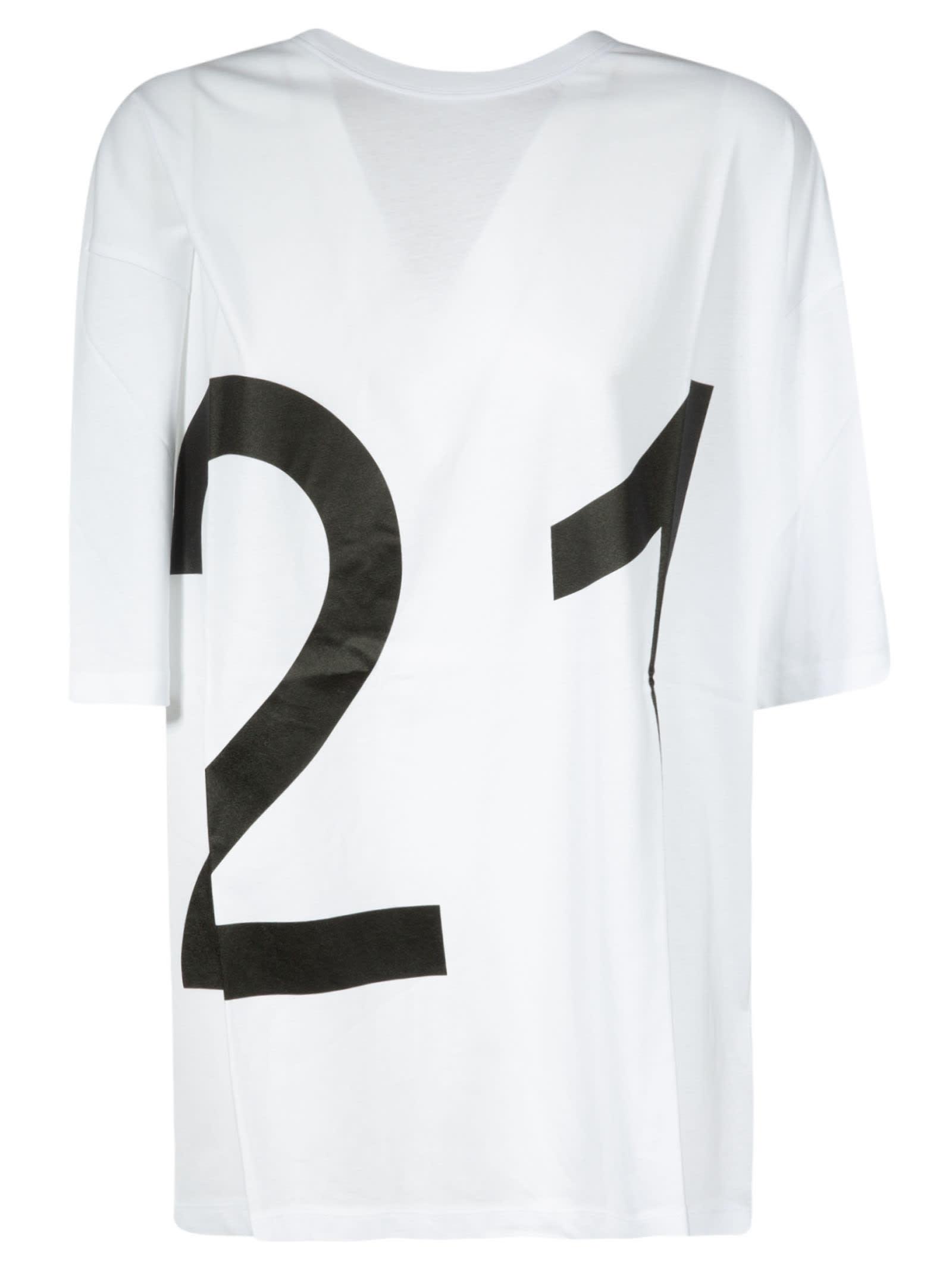 N.21 Logo Print Loose Fit T-shirt