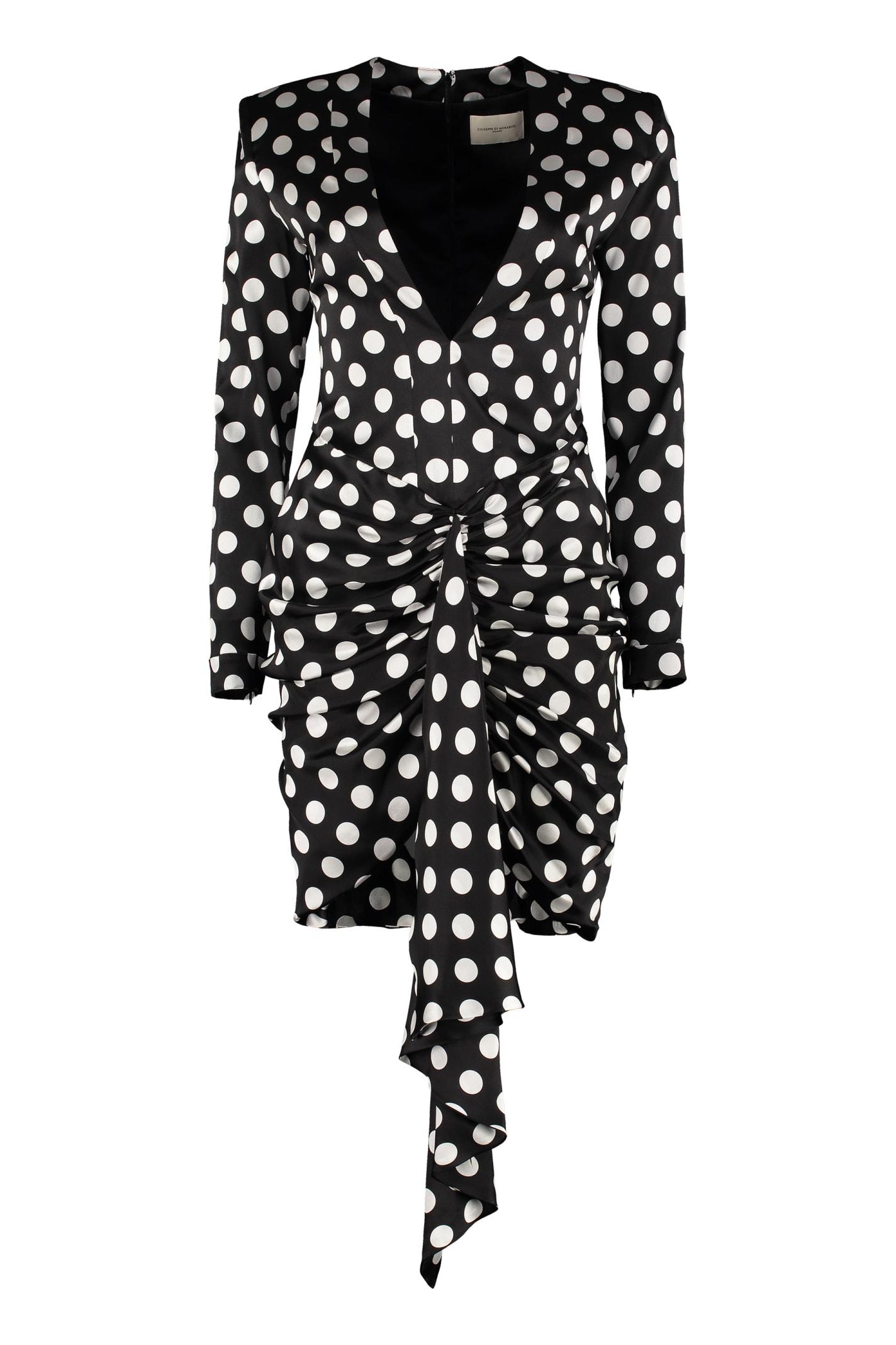 Buy Giuseppe di Morabito Polka-dot Print Silk Mini Dress online, shop Giuseppe di Morabito with free shipping