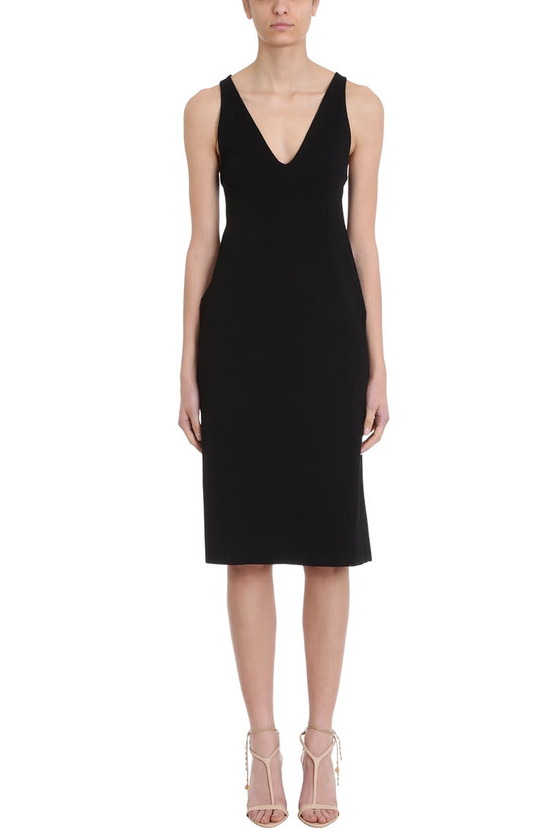 Stella McCartney Black Viscosa Ribbed Dress