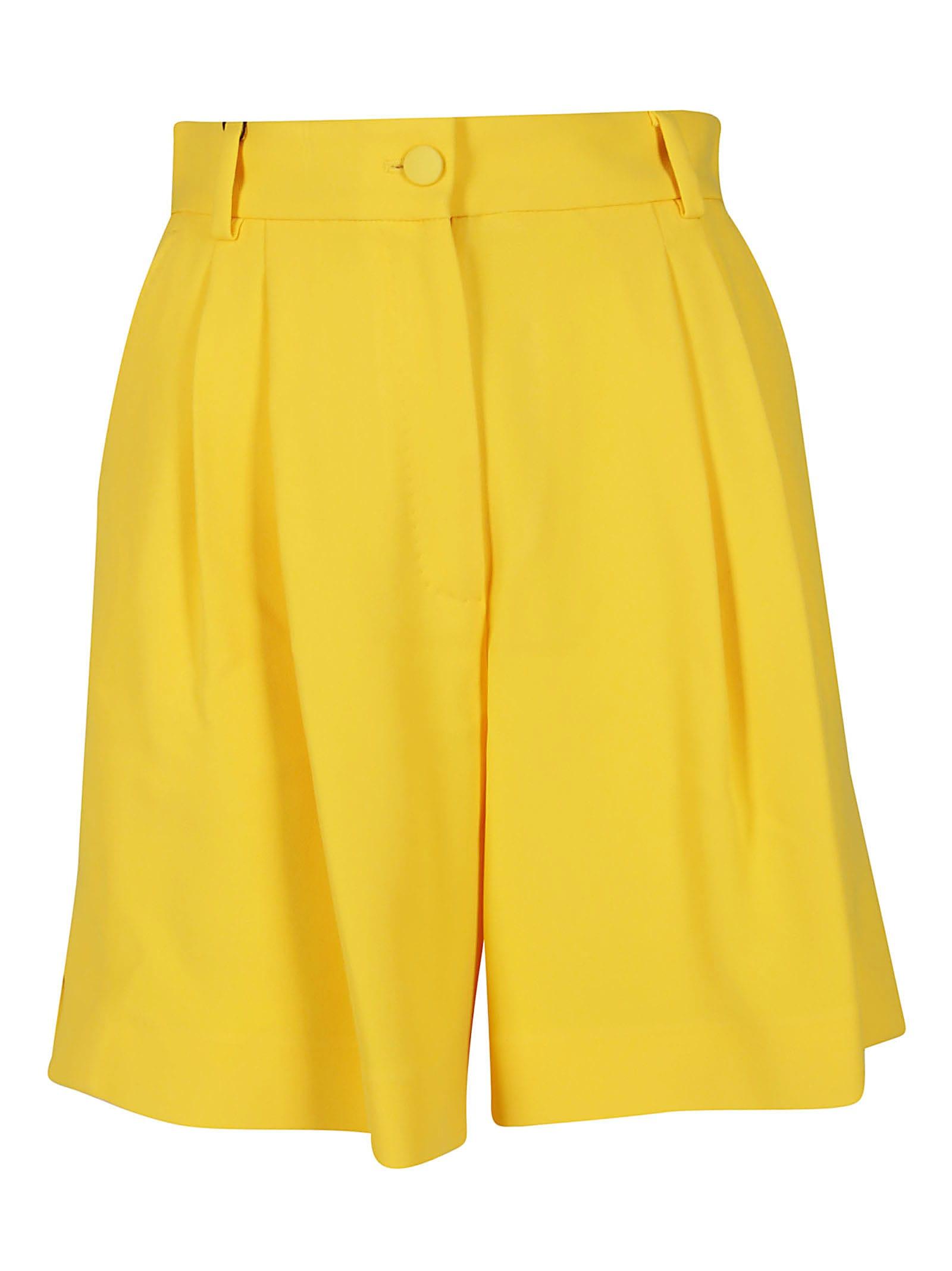 Dolce & Gabbana Shorts YELLOW VISCOSE BLEND SHORTS