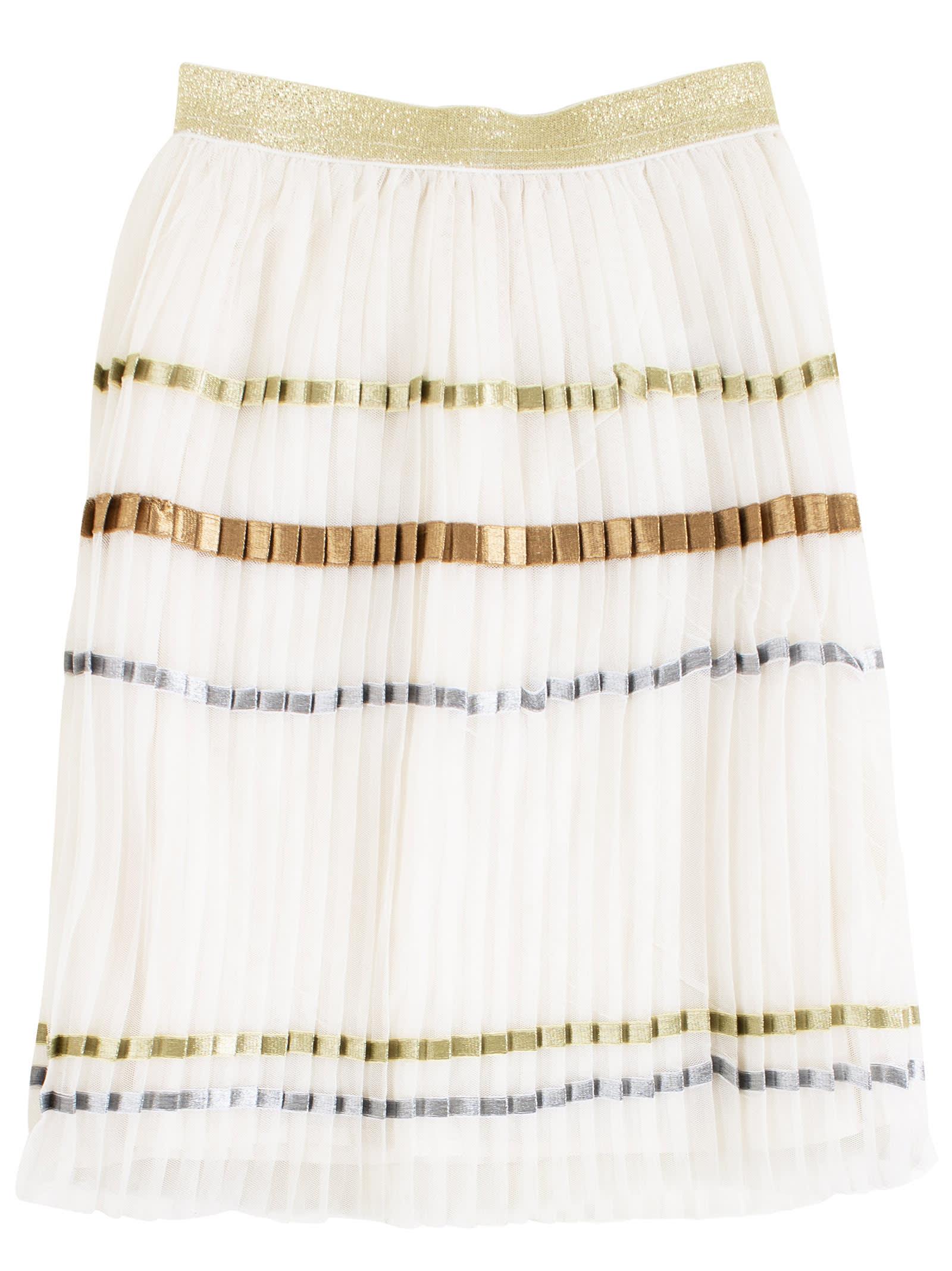 Pleated Little Girl Skirt