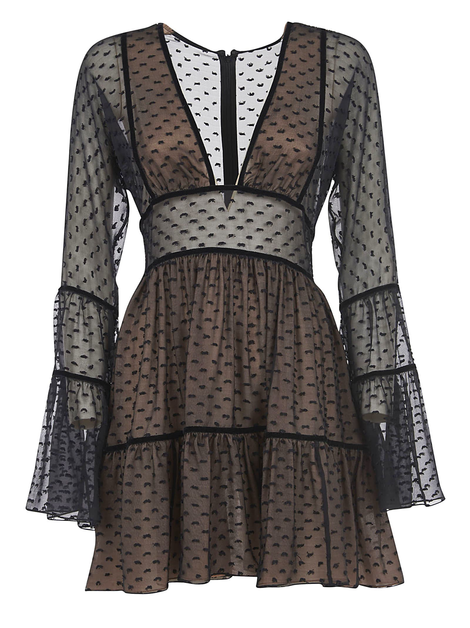 Buy Dsquared2 Semi See-through Short Dress online, shop Dsquared2 with free shipping