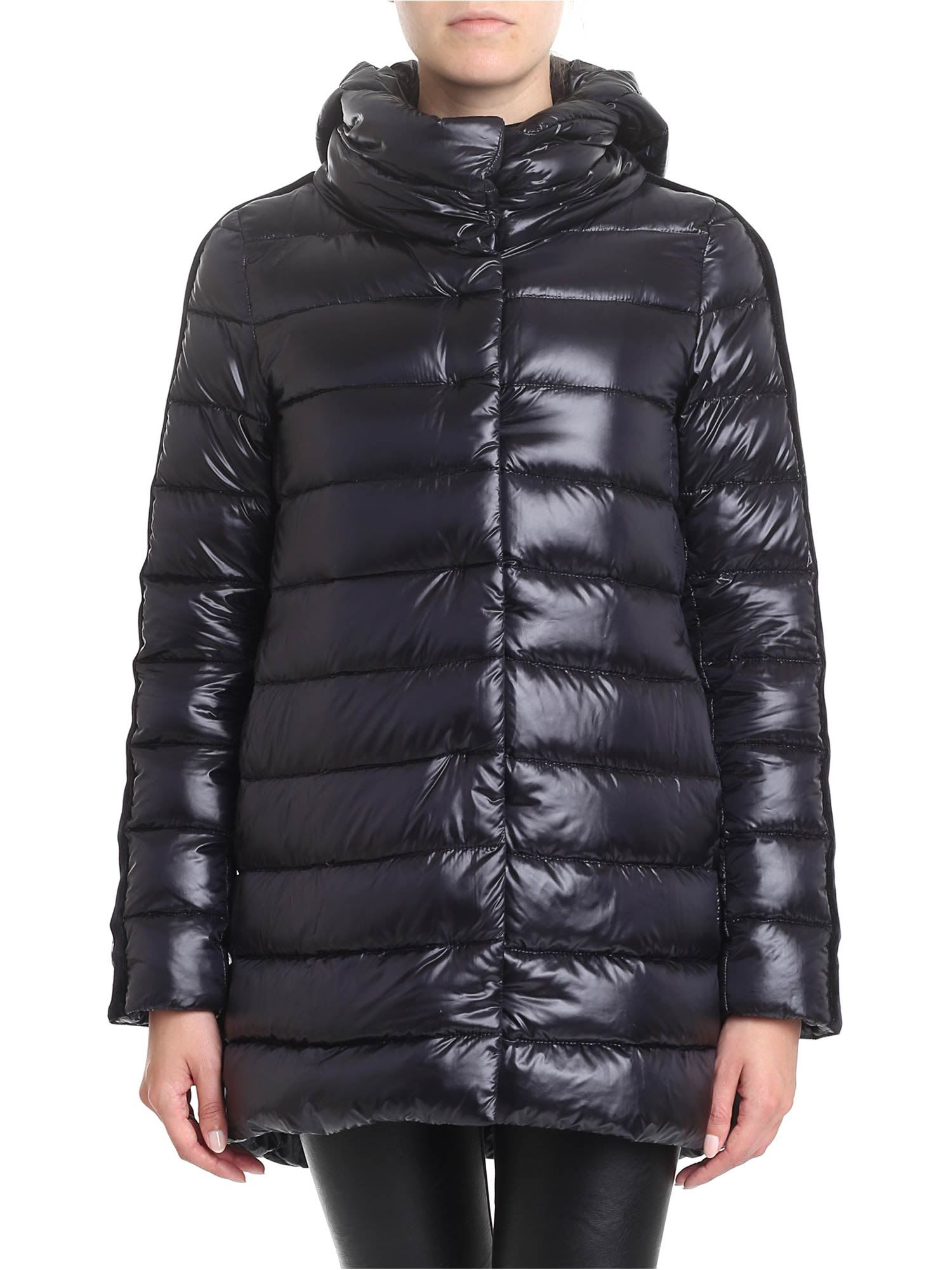 Herno – Resort Down Jacket With Stripes On The Sleeves