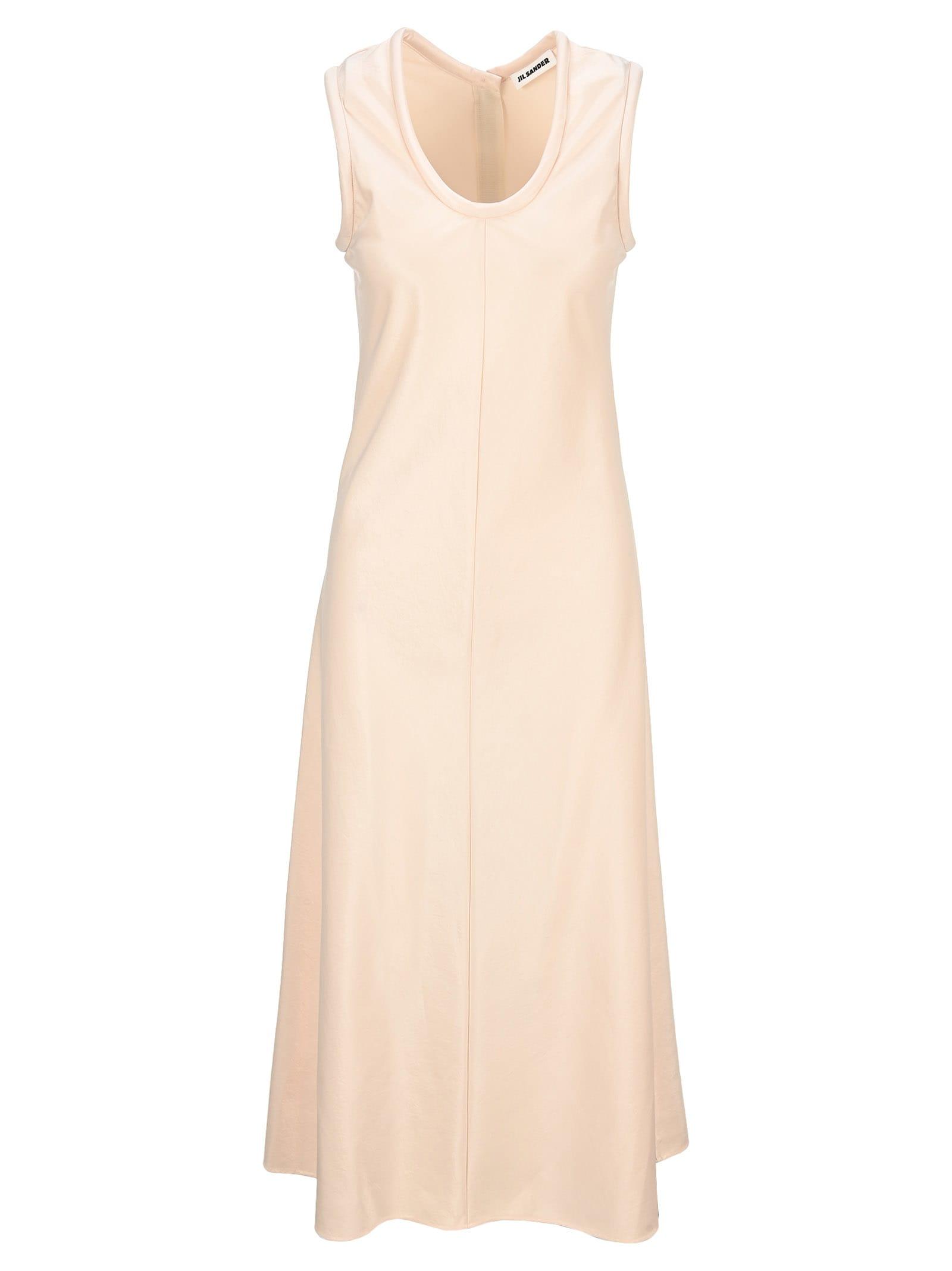 Buy Jil Sander Scoop Neck Flared Dress online, shop Jil Sander with free shipping