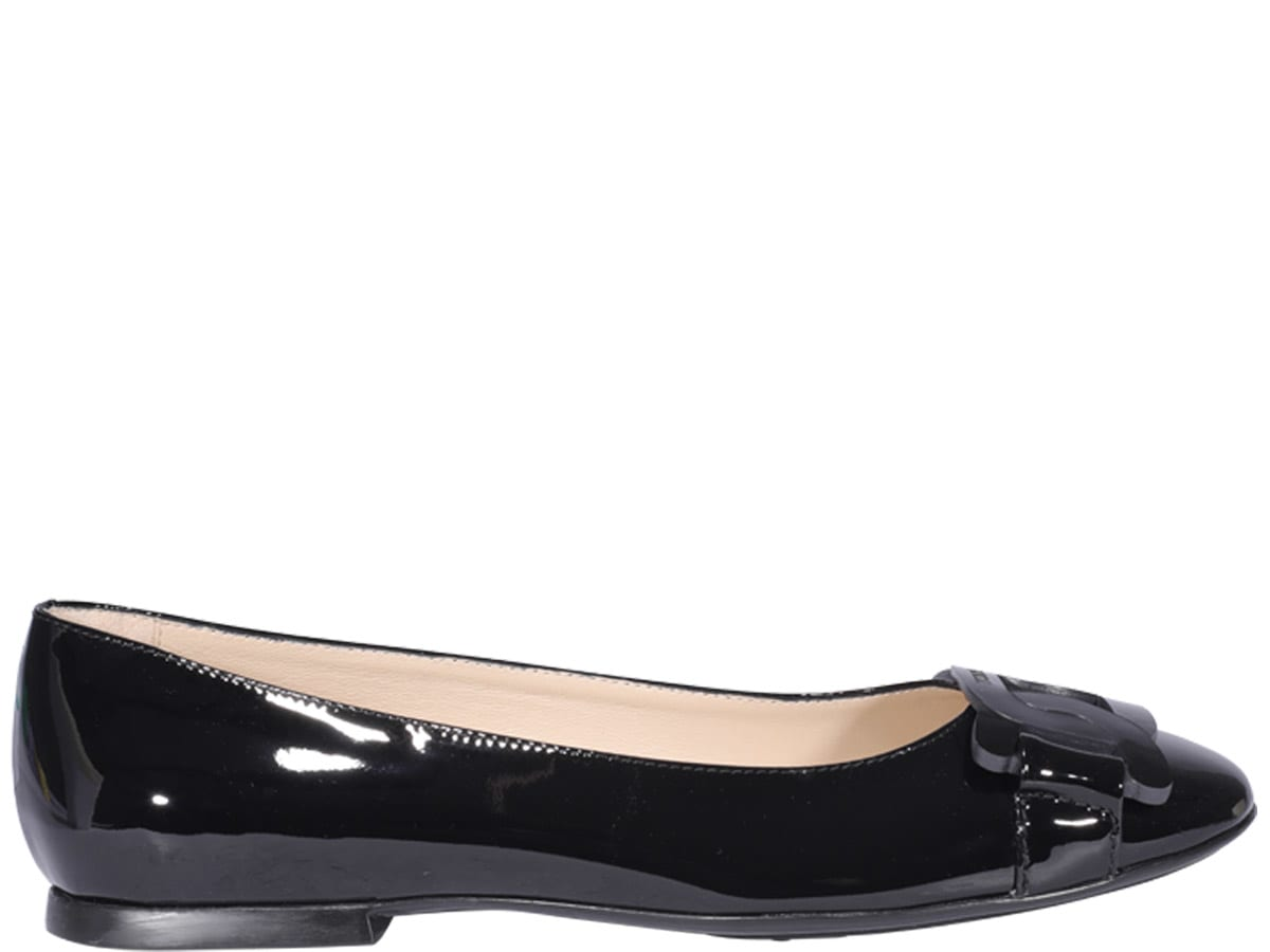 Tod's PATENT LEATHER BALLETS