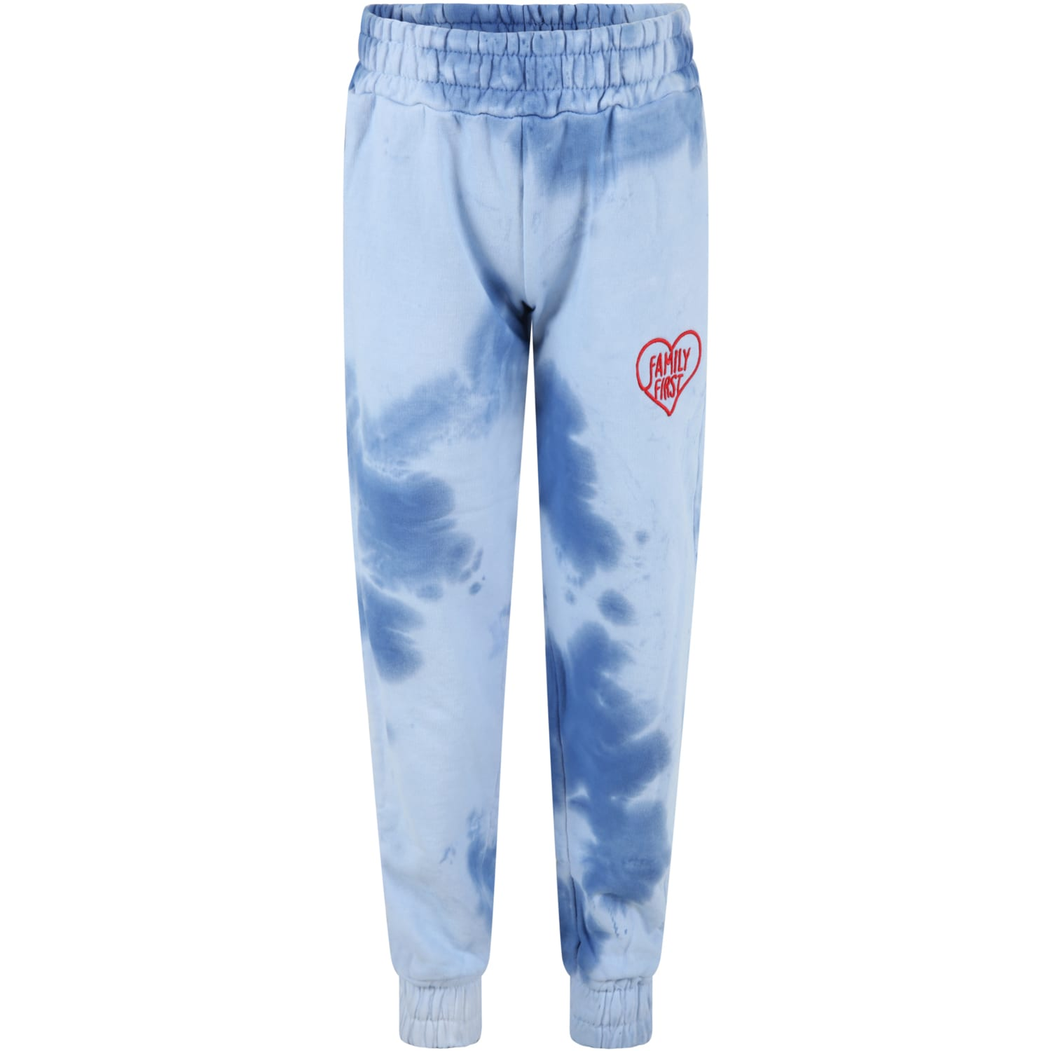 Tie-dye Sweatpant For Kids With Heart