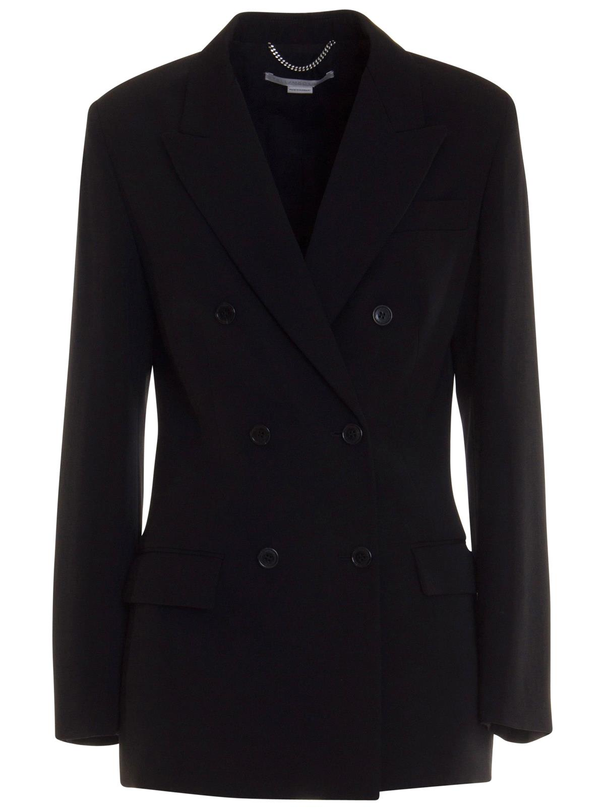 Stella Mccartney Double-breasted Blazer In Black