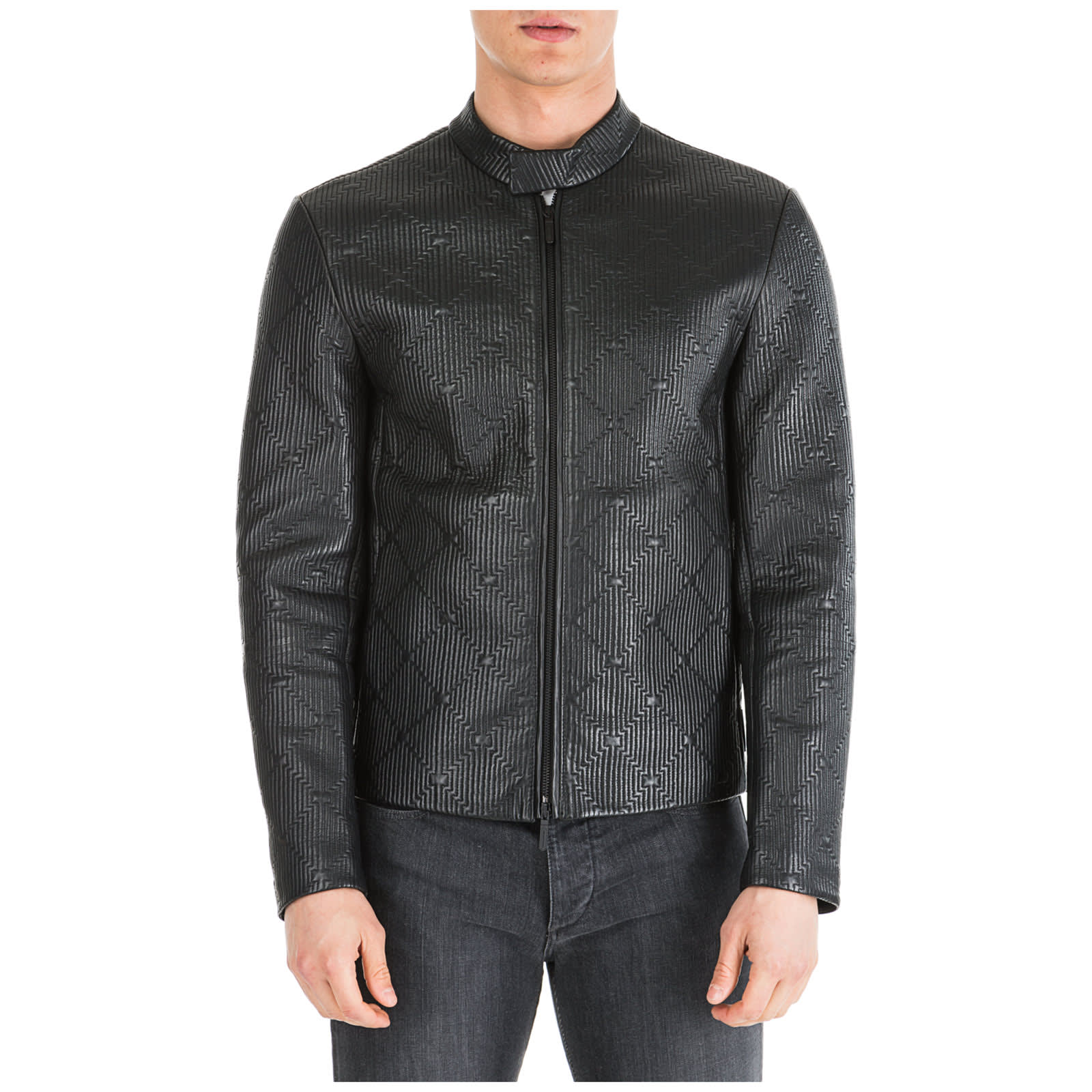 premium selection 613f1 123cb Best price on the market at italist | Emporio Armani Emporio Armani Herren  Lederjacke Jacke Blouson Leder Herrenjacke