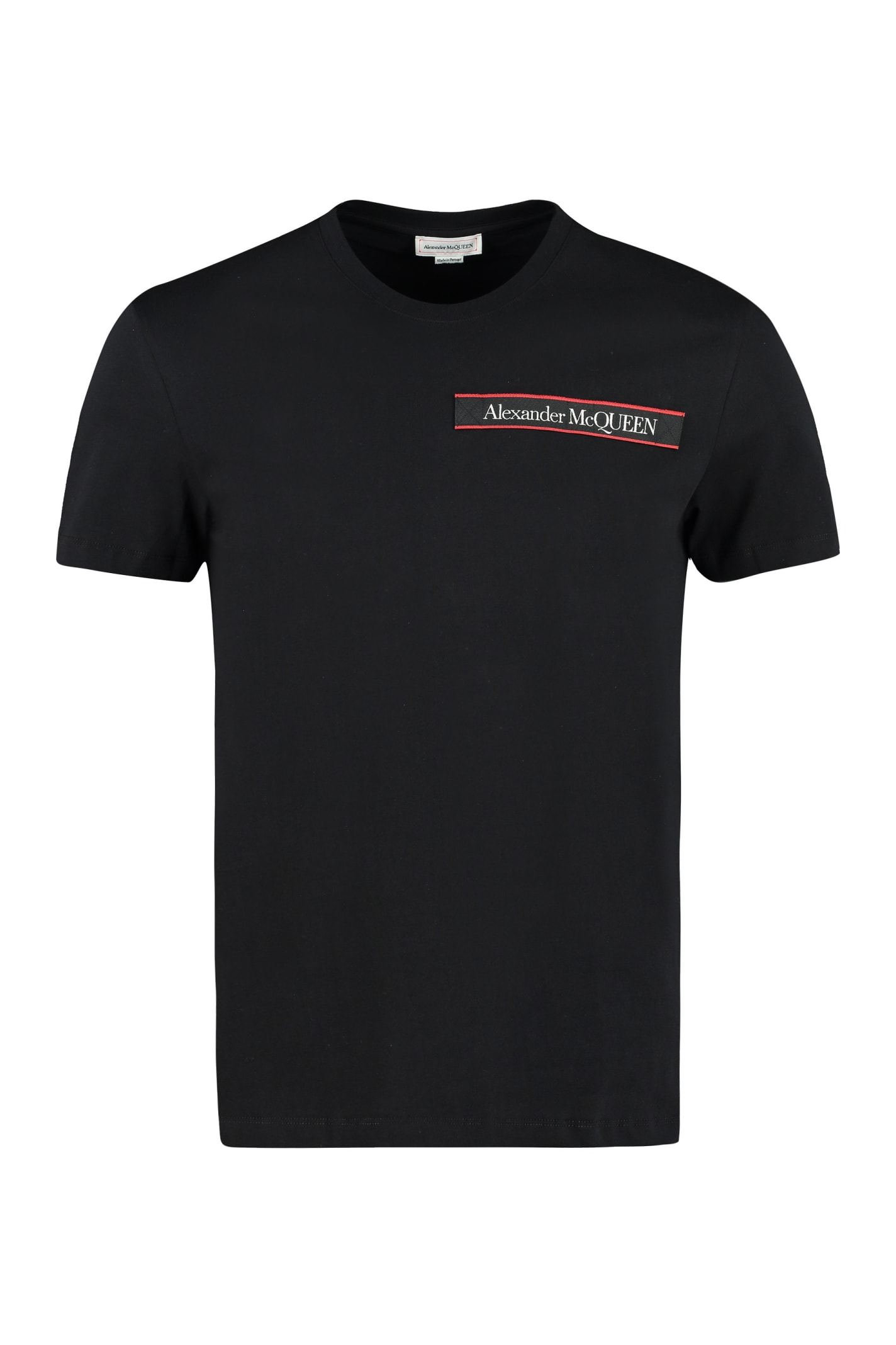 Alexander Mcqueen Cotton Crew-neck T-shirt In Black