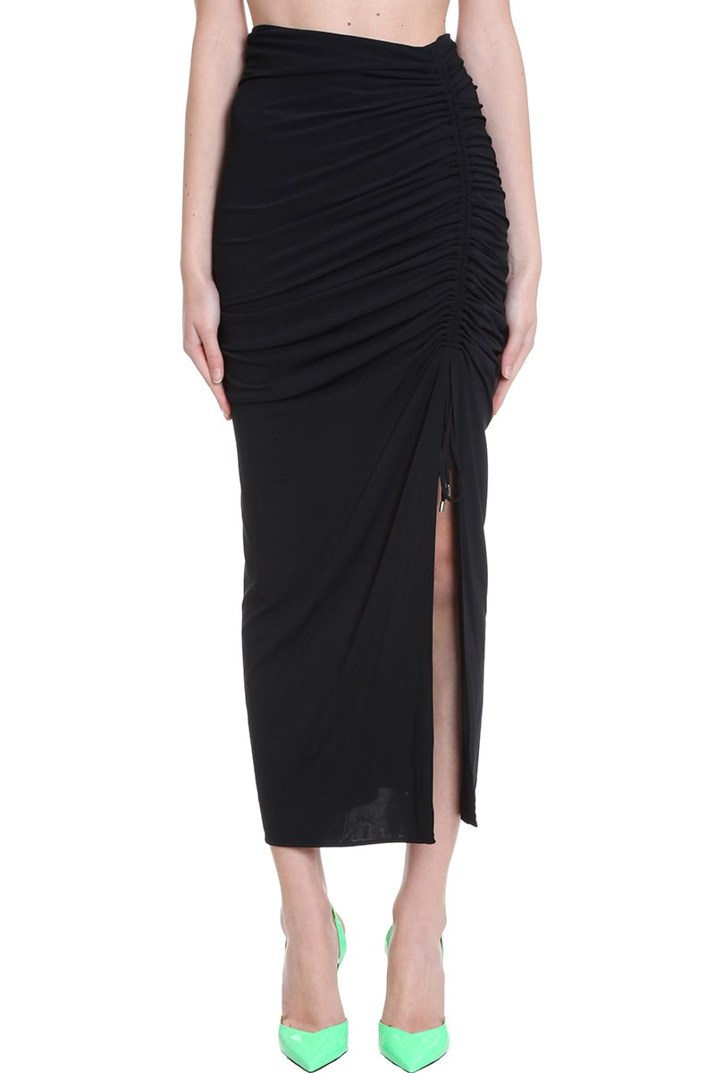 Attico SKIRT IN BLACK JERSEY