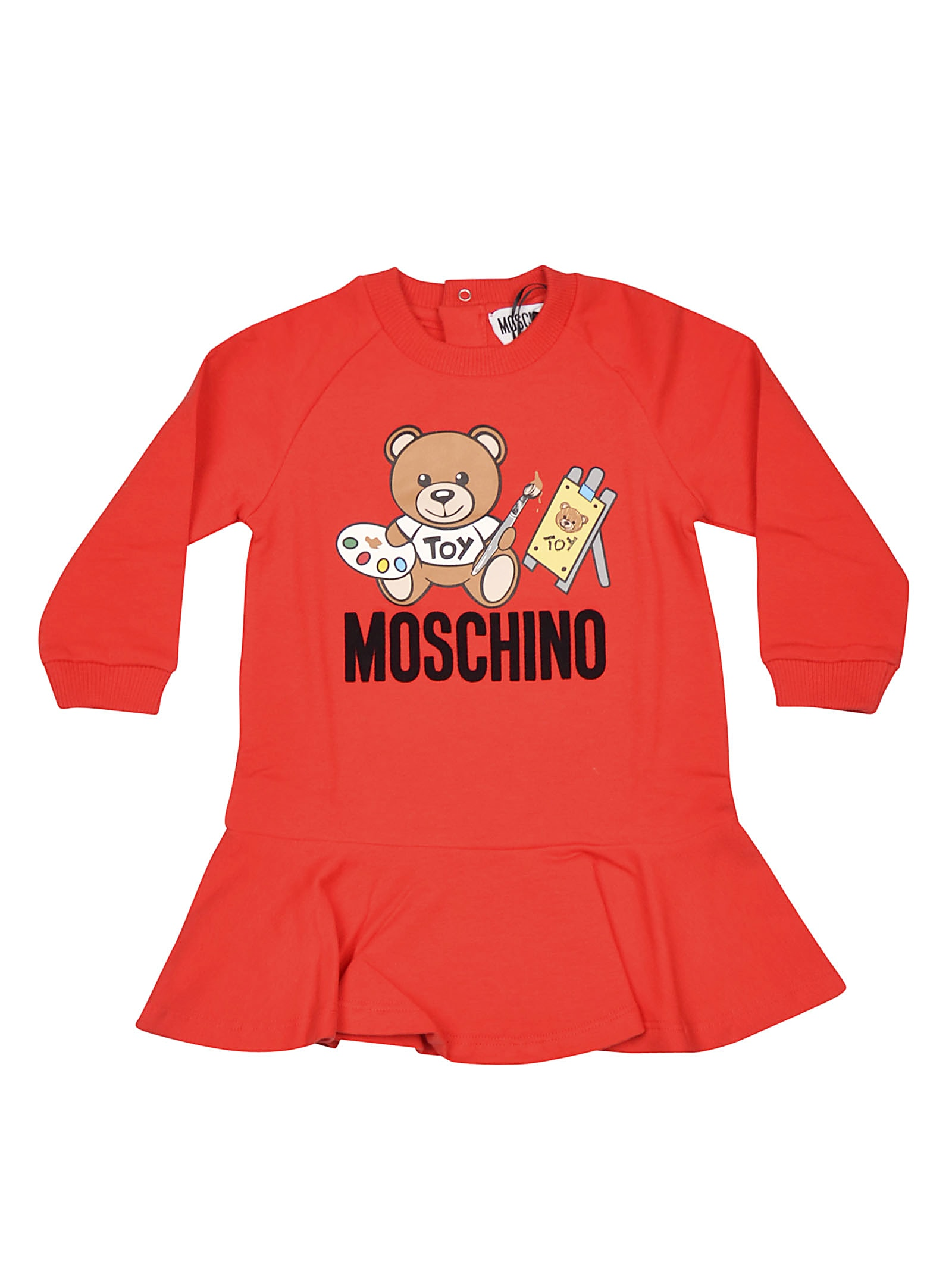 Moschino Bear Logo Detail Dress