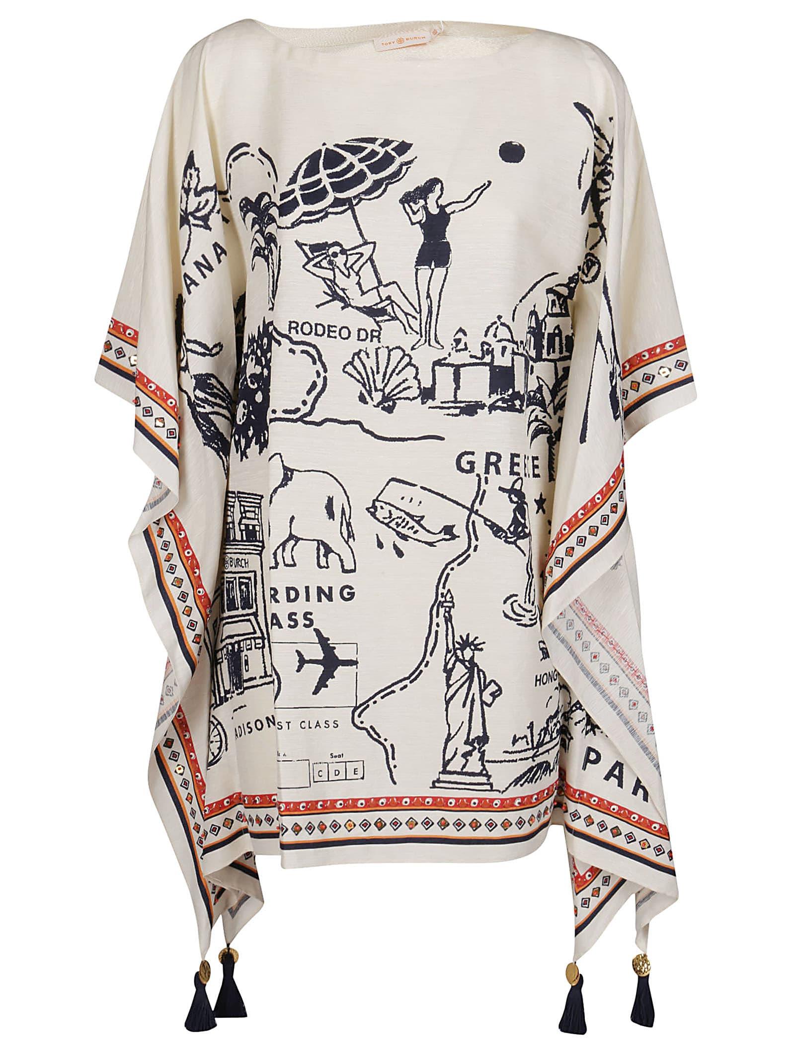Buy Tory Burch White Silk Dress online, shop Tory Burch with free shipping
