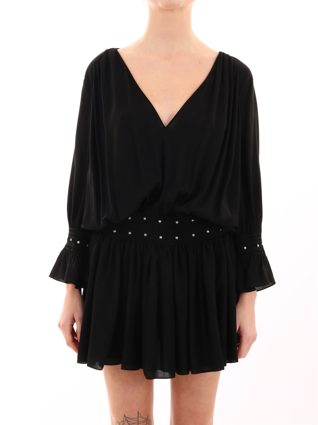 Saint Laurent Dress With Studs