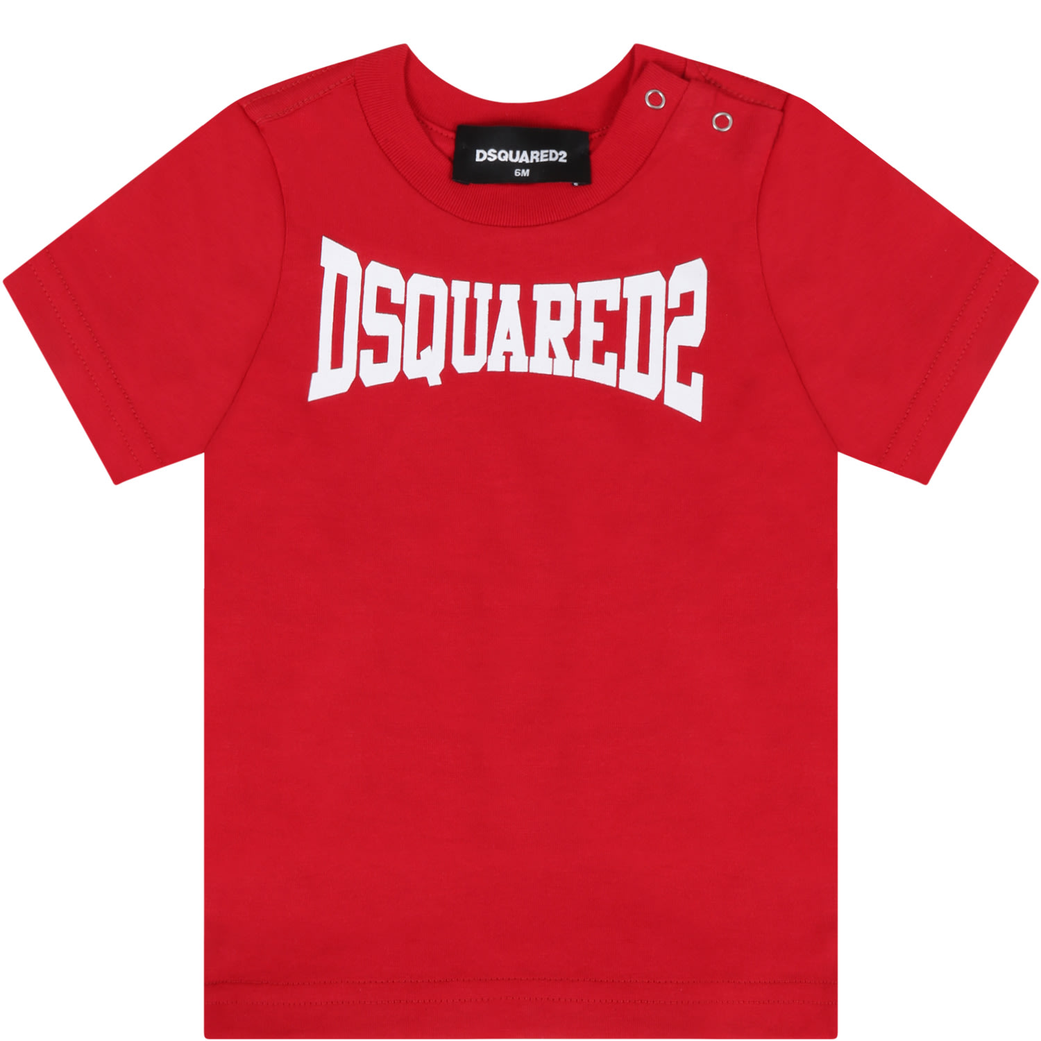 Dsquared2 Red T-shirt For Baby Boy With Logo
