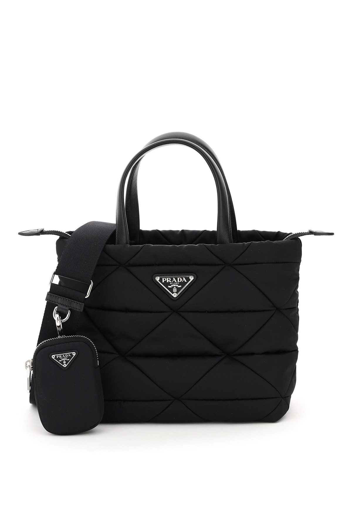 Prada Quilted Patchwork Tote With Pouch