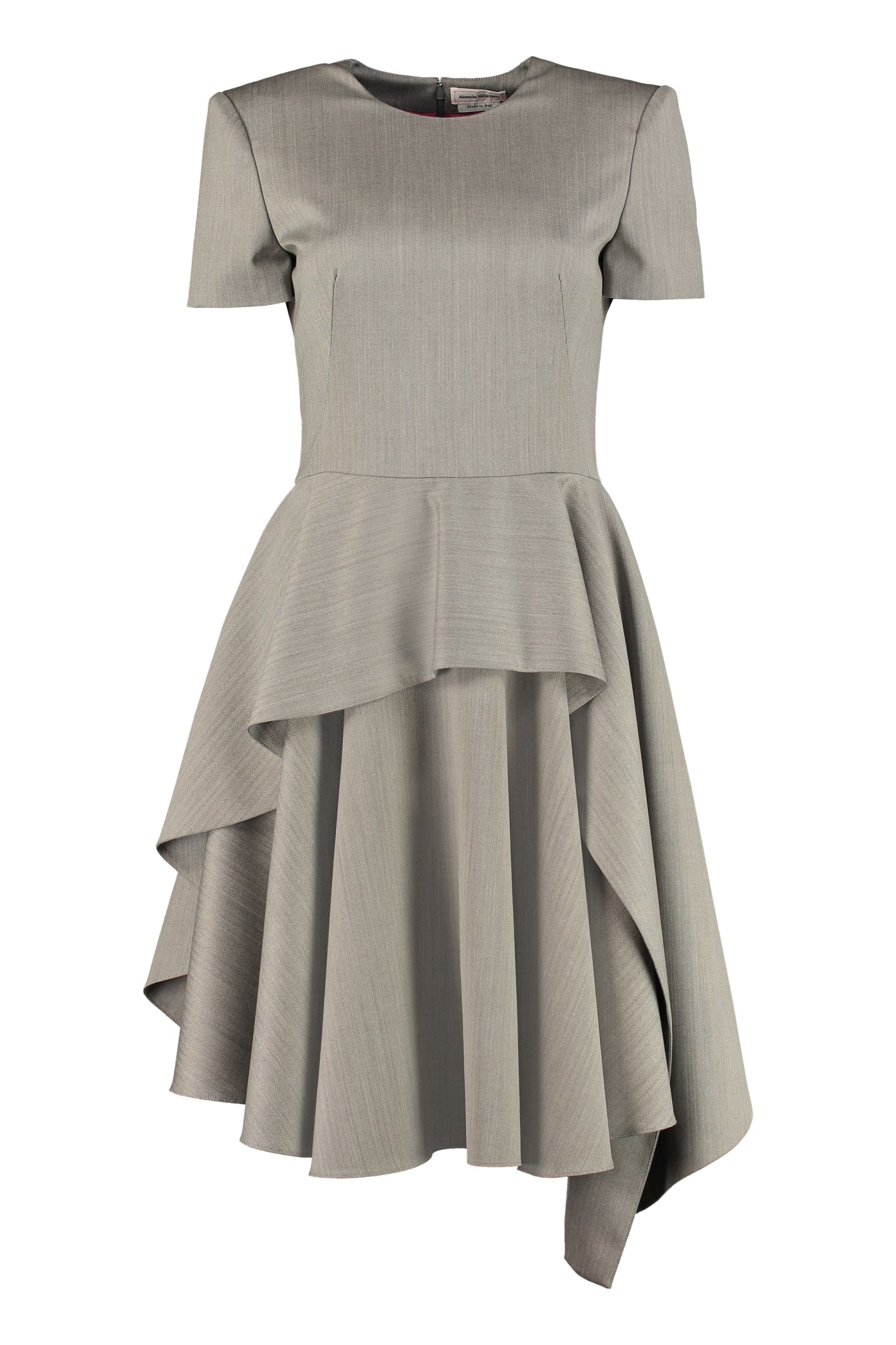 Buy Alexander McQueen Draped Wool Dress online, shop Alexander McQueen with free shipping
