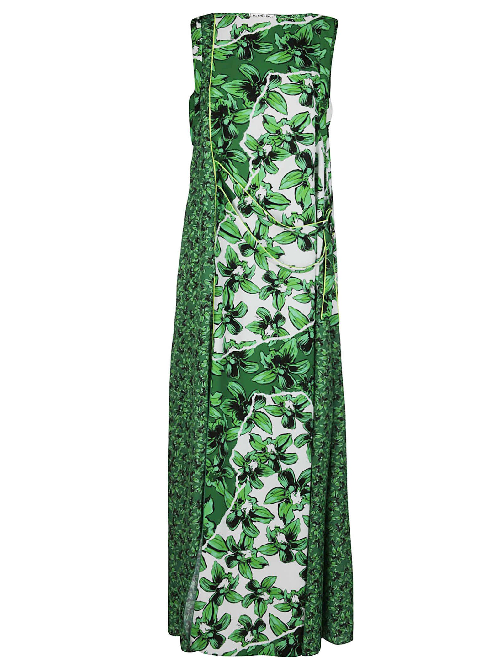 Buy Iceberg Green Maxi Dress online, shop Iceberg with free shipping