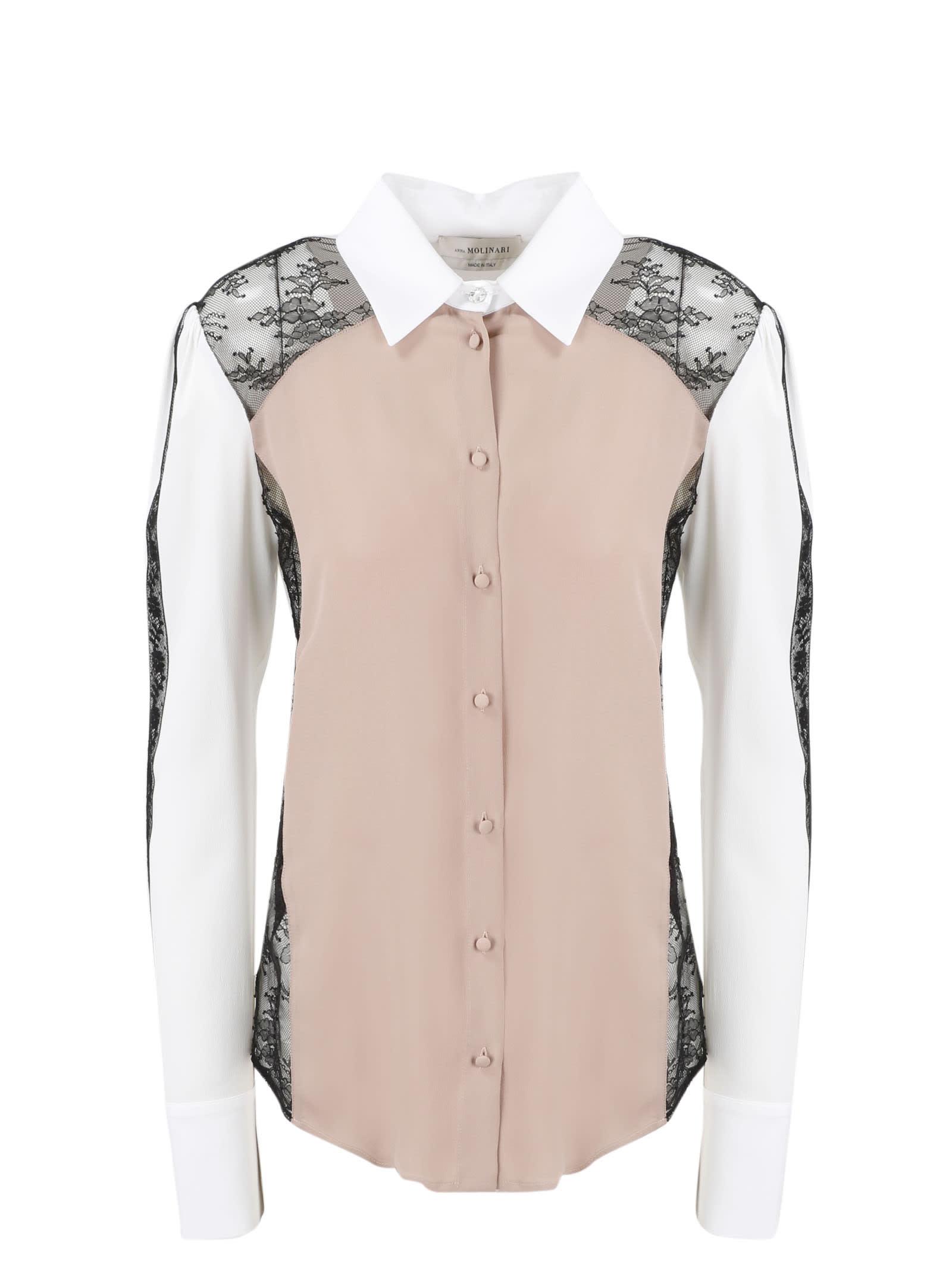 Lace Inserts Shirt