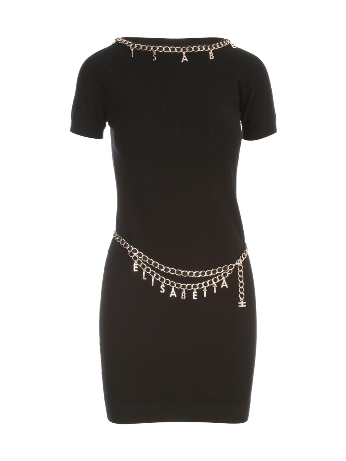 Buy Elisabetta Franchi Short Dress W/chain online, shop Elisabetta Franchi with free shipping