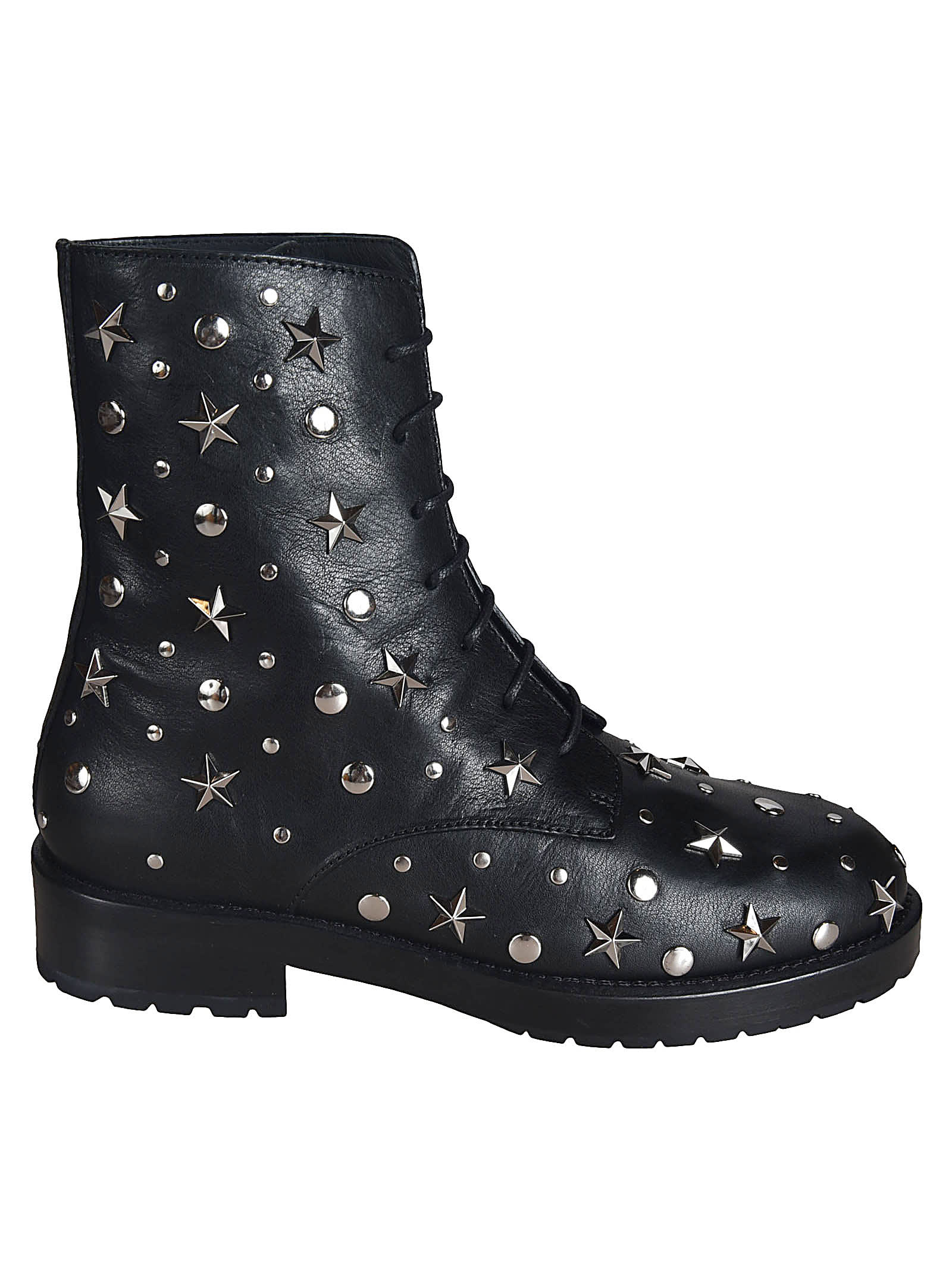RED Valentino Embellished Combat Boots