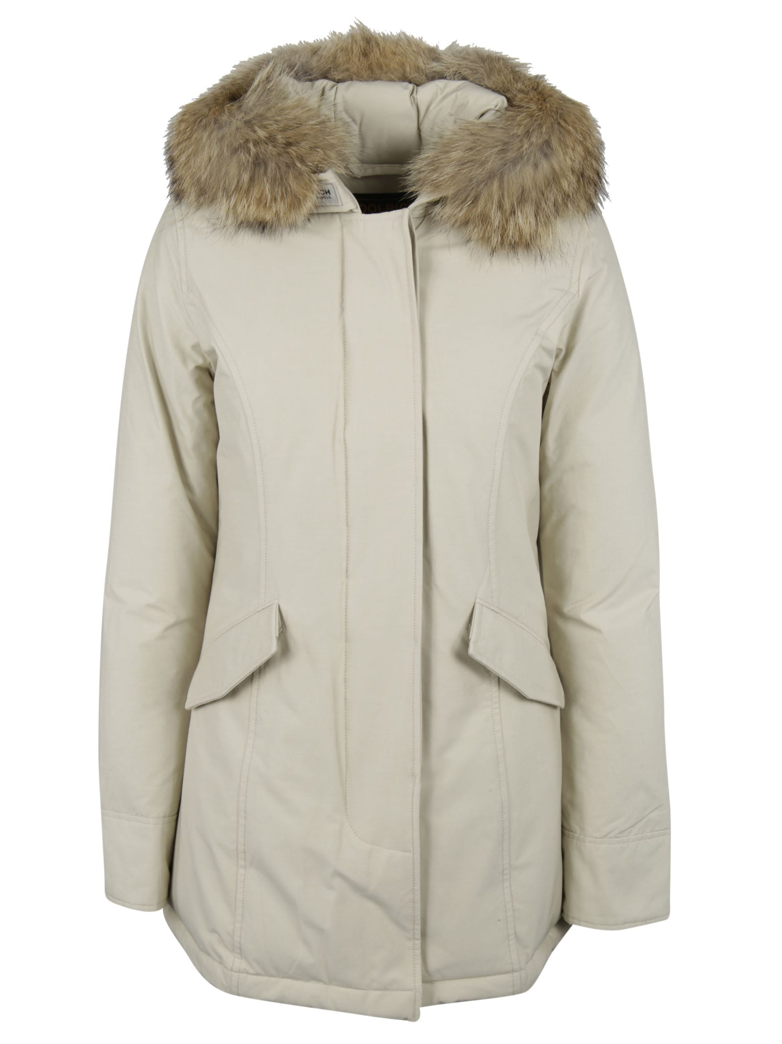Woolrich Fur Trim Hooded Parka