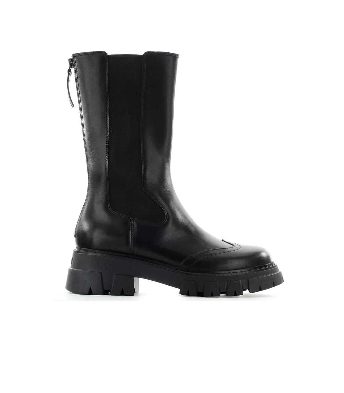 ASH LINCOLN BLACK HIGH CHELSEA BOOT