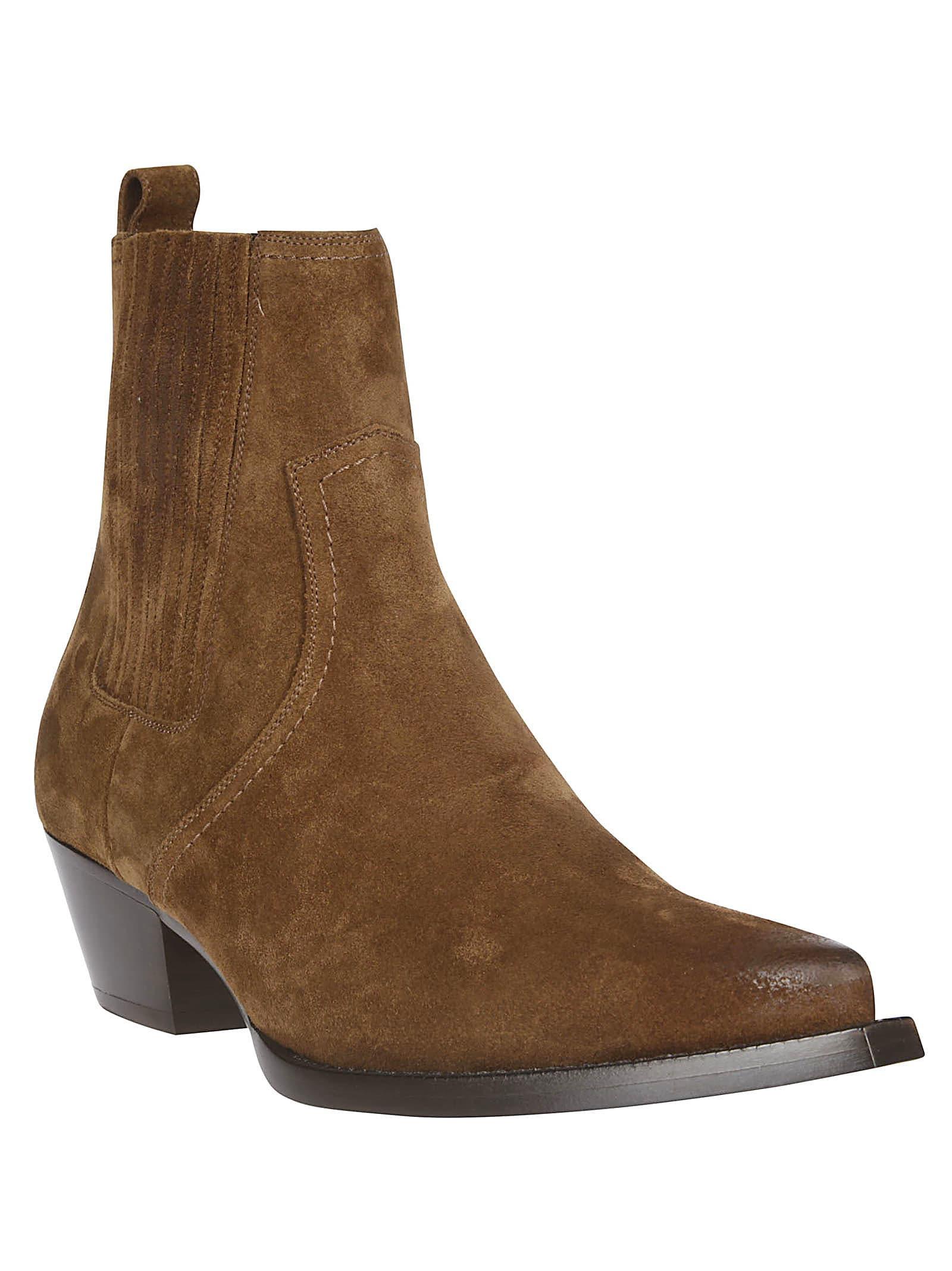 83485fb06cc Saint Laurent Suede Cowboy Boots