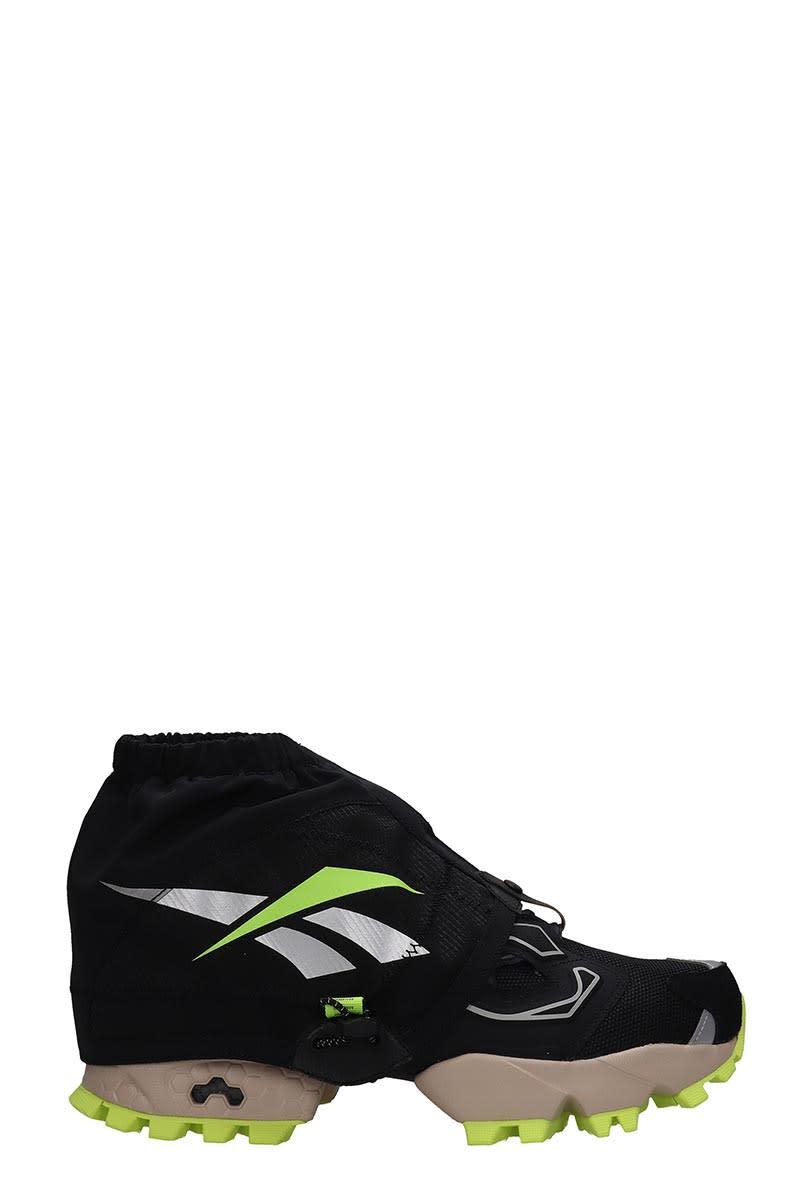 Reebok Istapump Fury Sneakers In Black Tech/synthetic