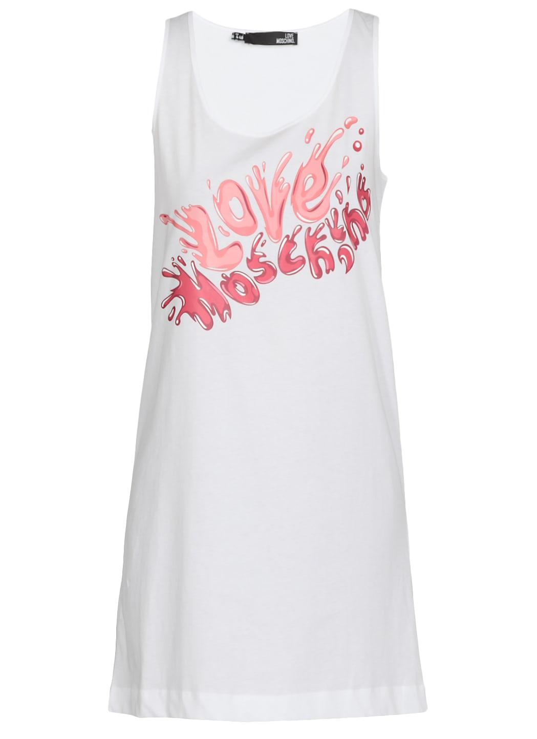 Love Moschino Logo Cotton Dress