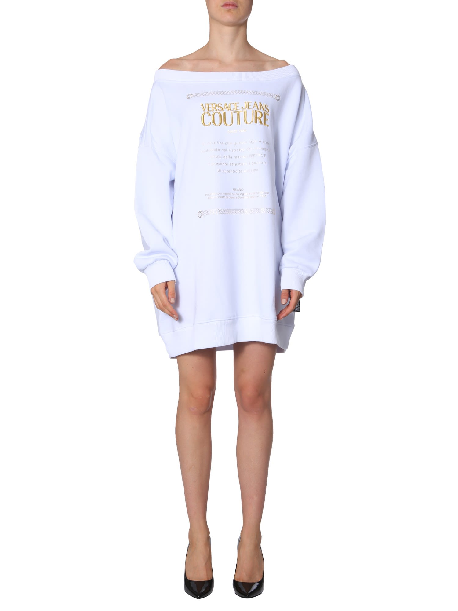 Versace Jeans Couture Cotton Sweatshirt Dress