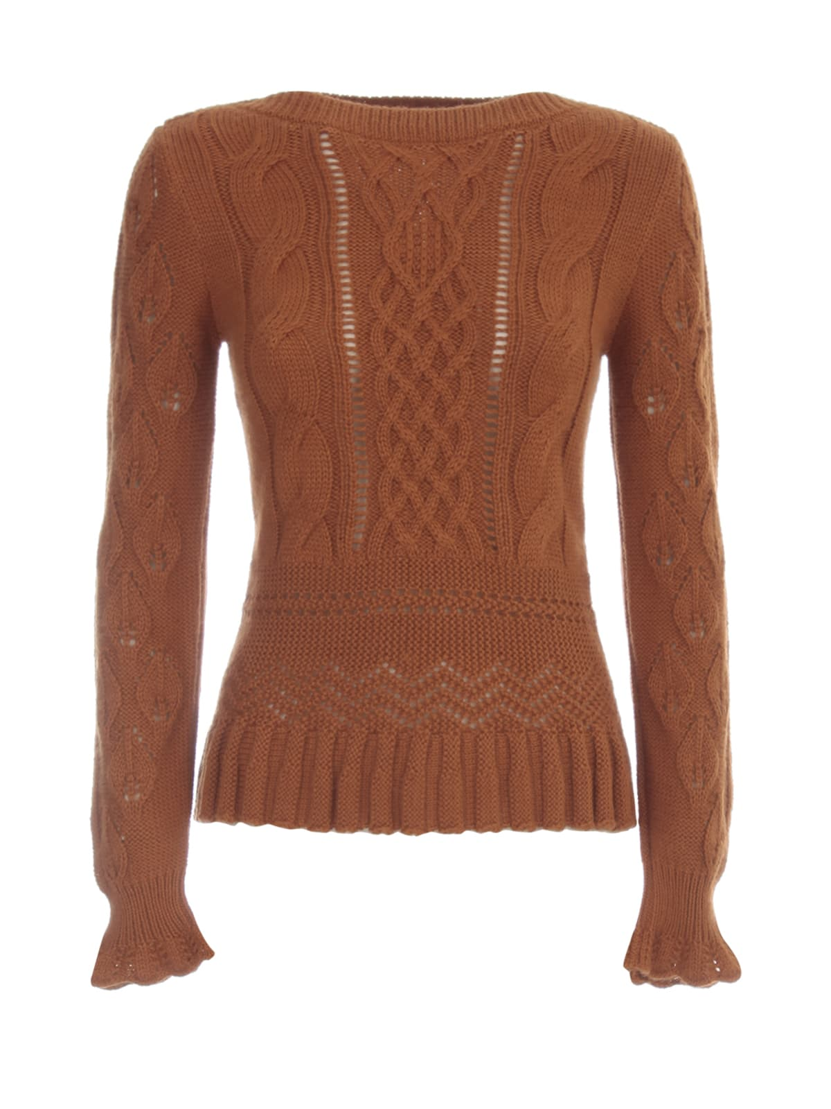 See by Chloé Crafty Lace Knit L/s Crew Neck