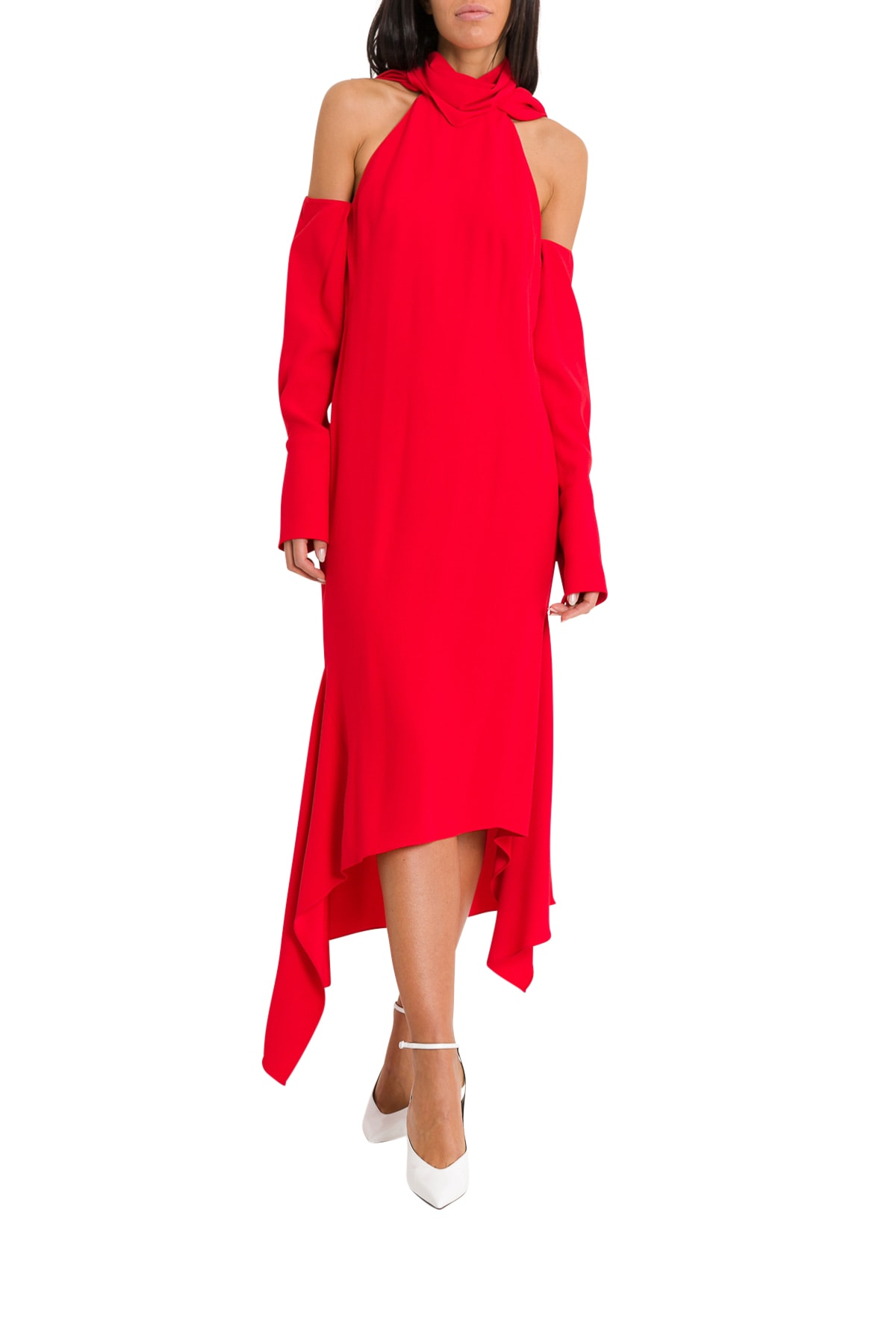 MONSE T-neck Drape Hem Dress