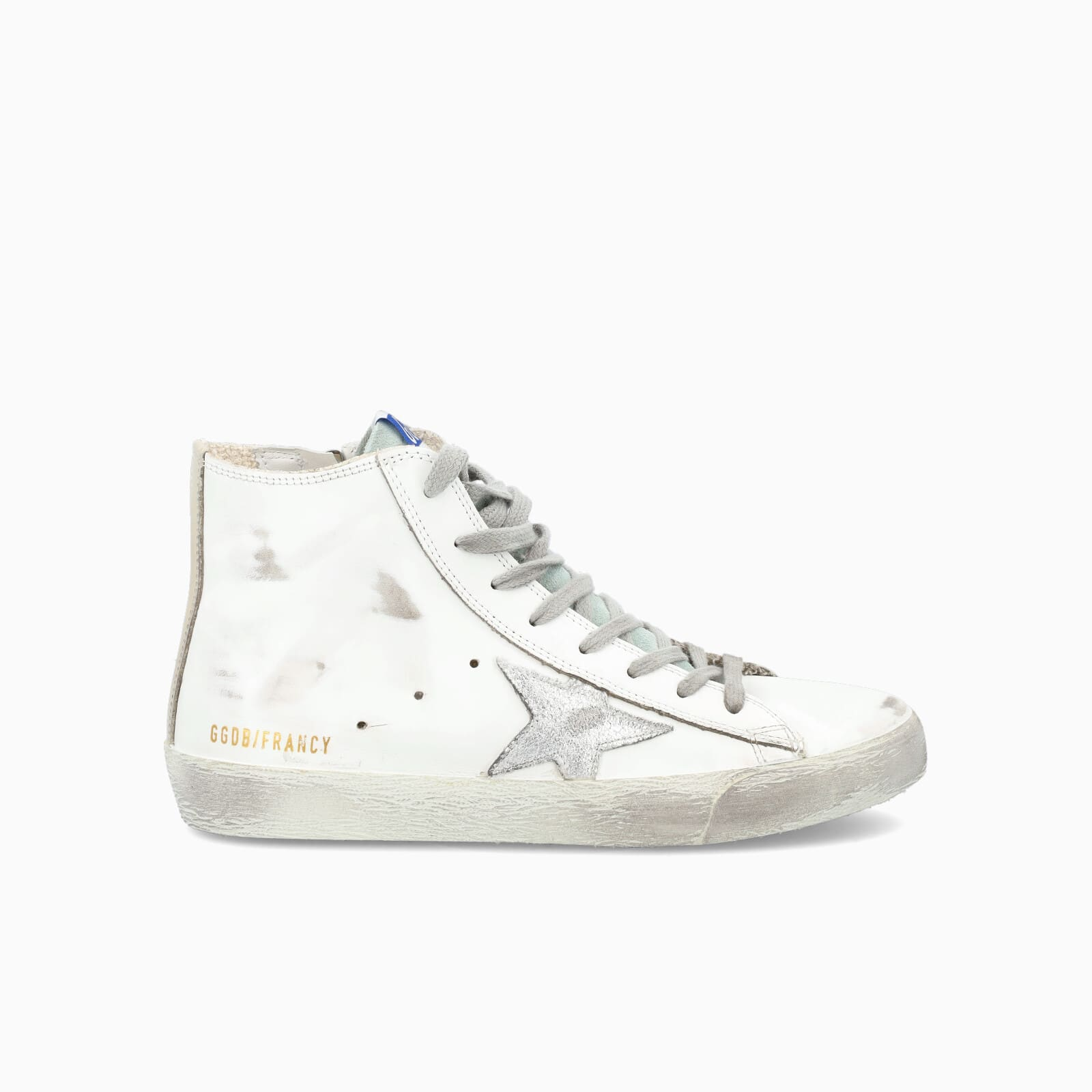 Golden Goose Francy High-top Sneakers With Silver Star