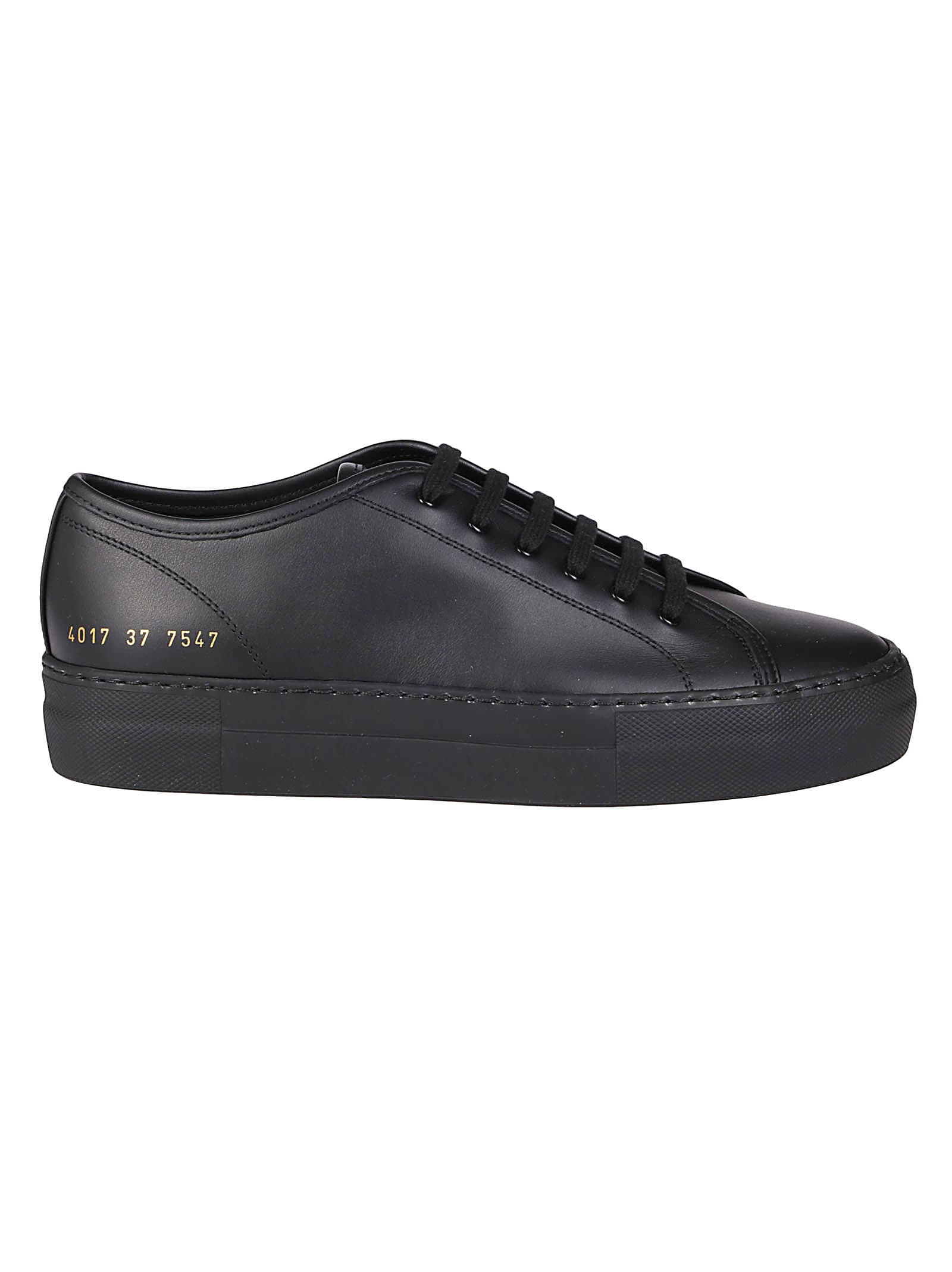 Common Projects Black Leather Tournament Sneakers