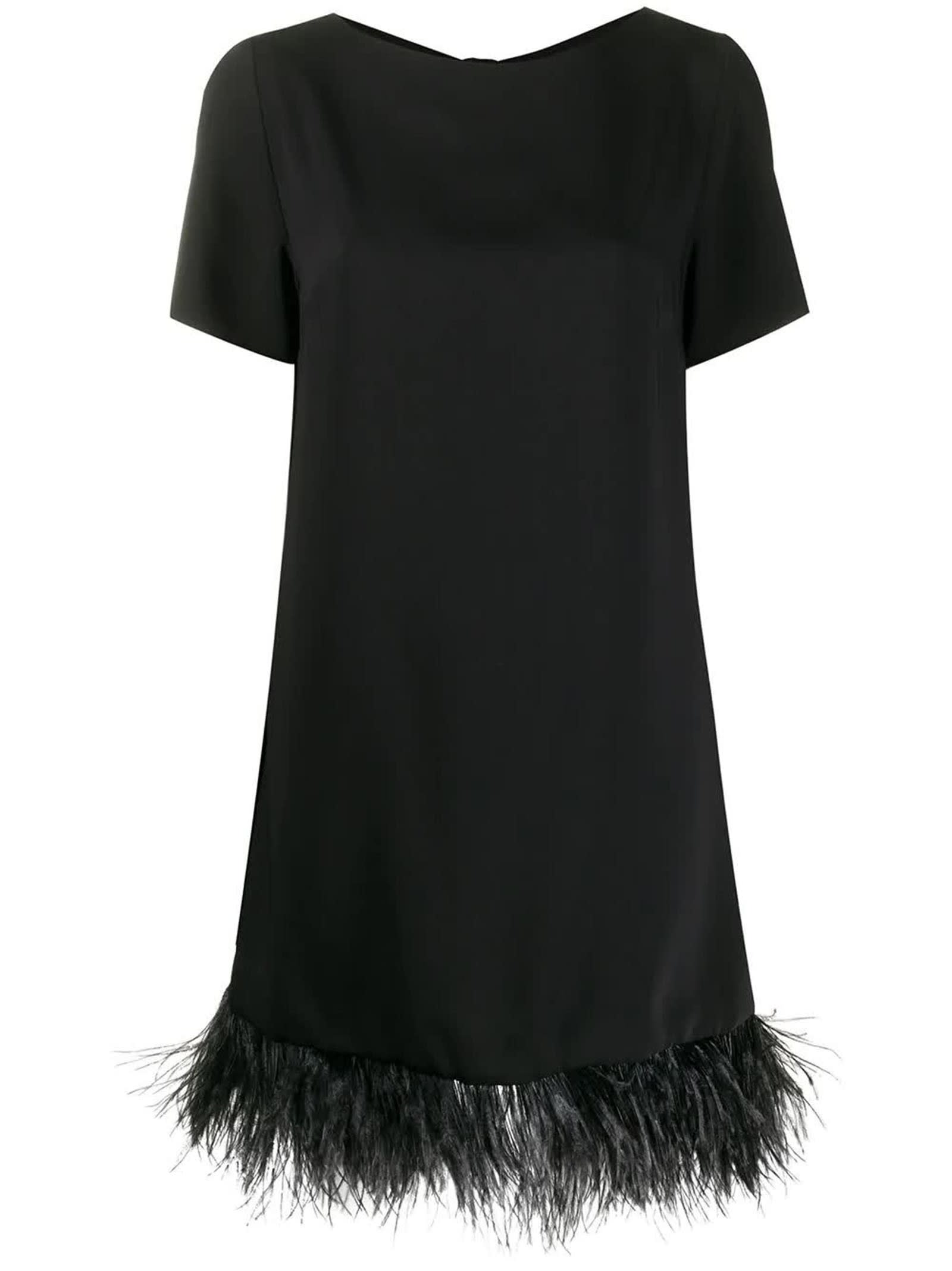 Buy Parosh Black Panters Dress online, shop Parosh with free shipping